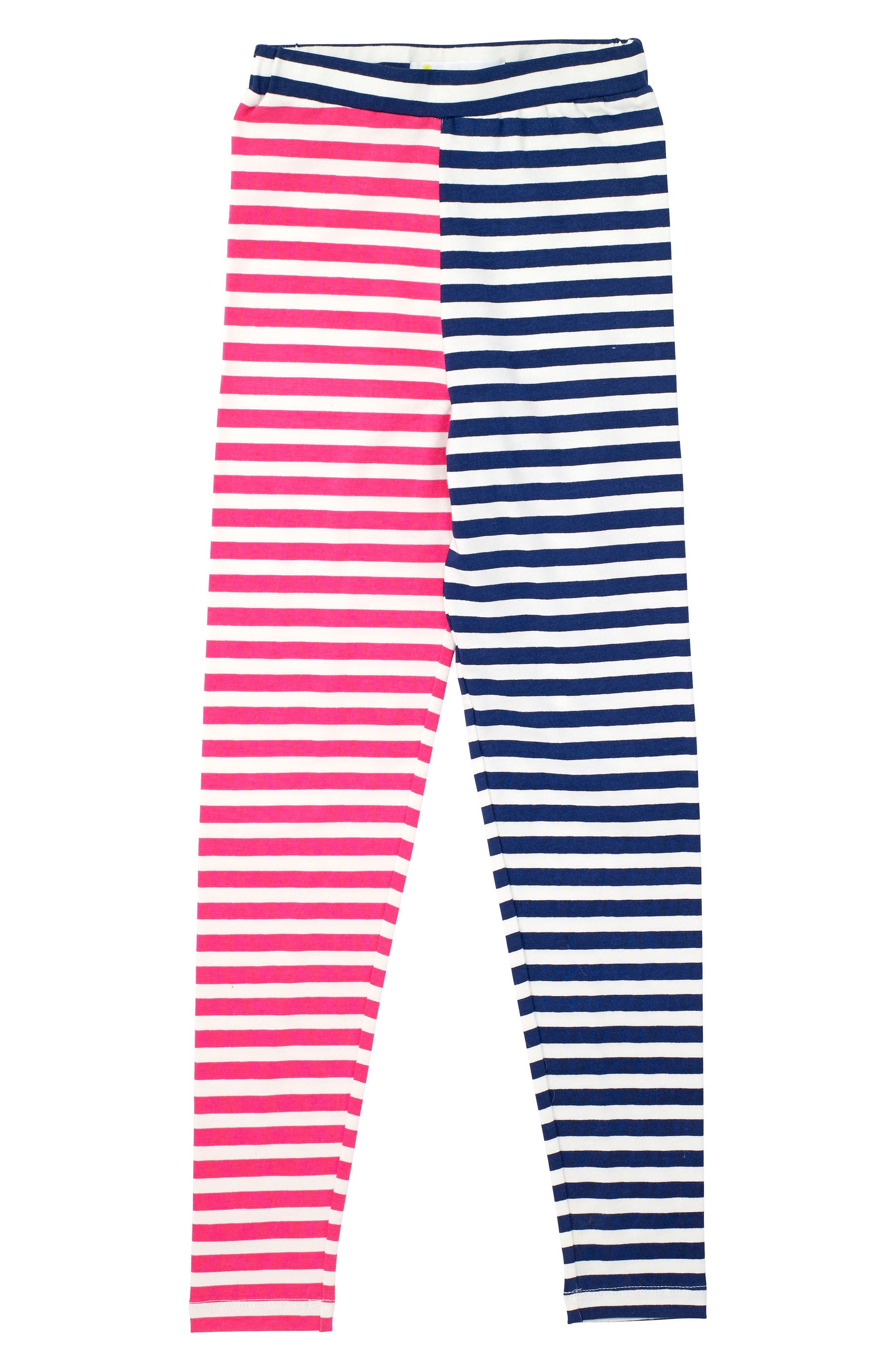 Alternate Image 1 Selected - Masasla Baby Stripe Organic Cotton Leggings (Toddler Girls, Little Girls & Big Girls)
