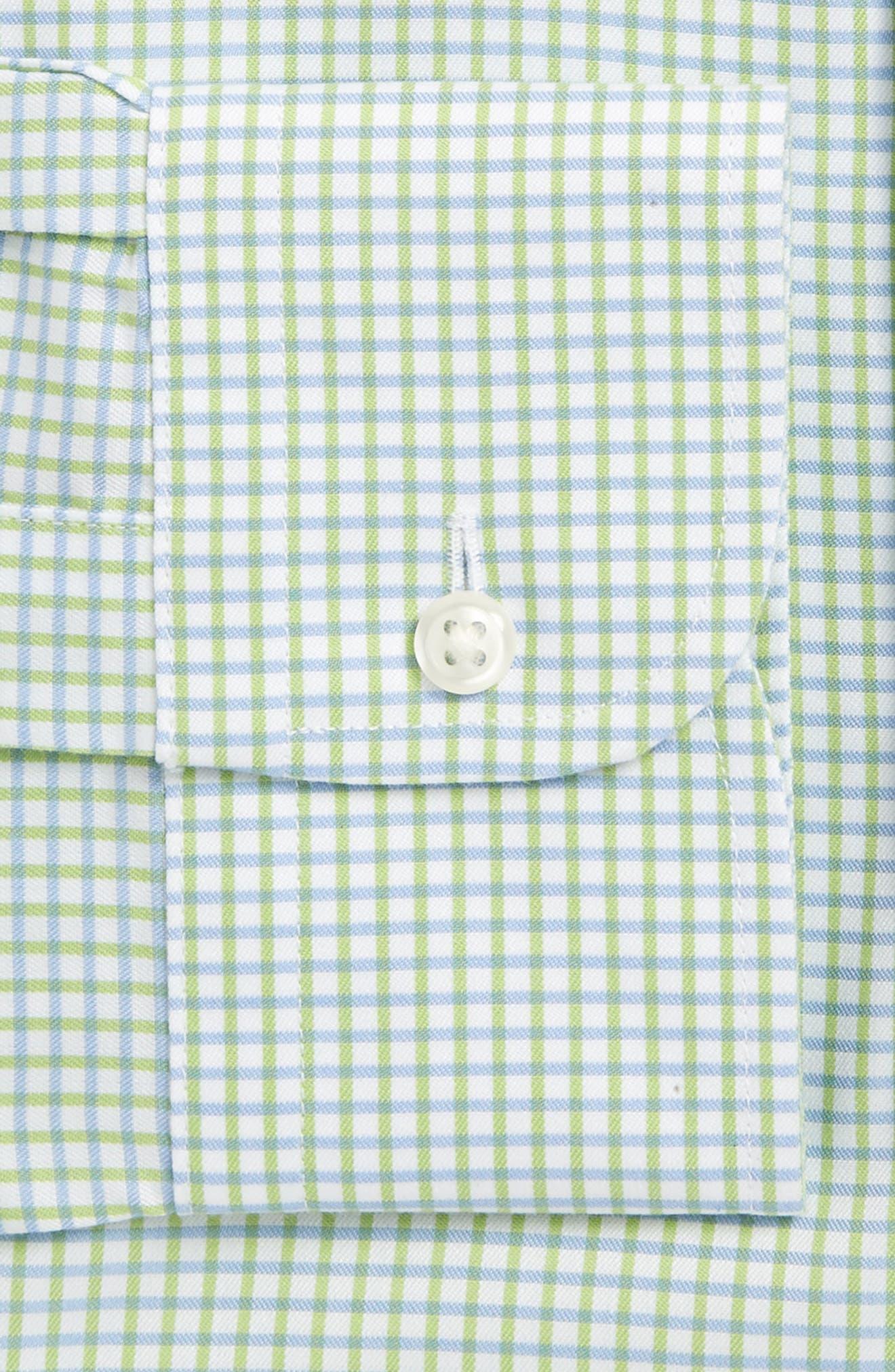 Smartcare<sup>™</sup> Classic Fit Check Dress Shirt,                             Alternate thumbnail 4, color,                             Green Atom
