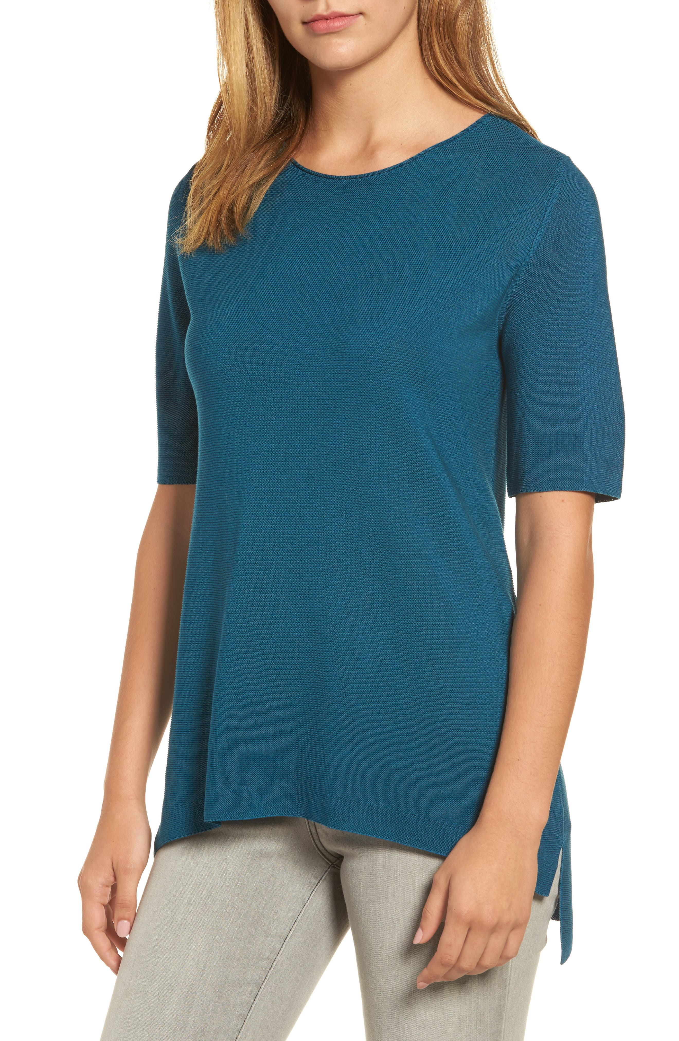 Eileen Fisher Tencel® Knit Top (Regular & Petite)