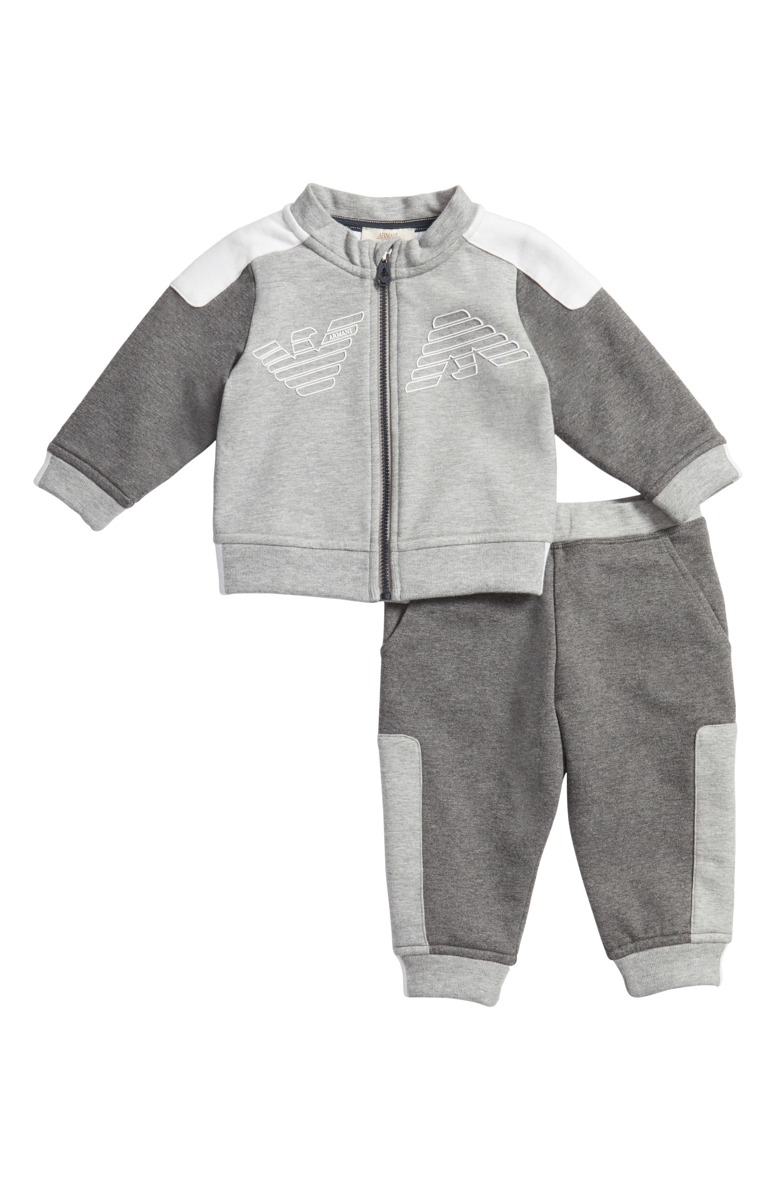 Armani Junior Track Jacket & Jogger Pants Set (Baby Boys)