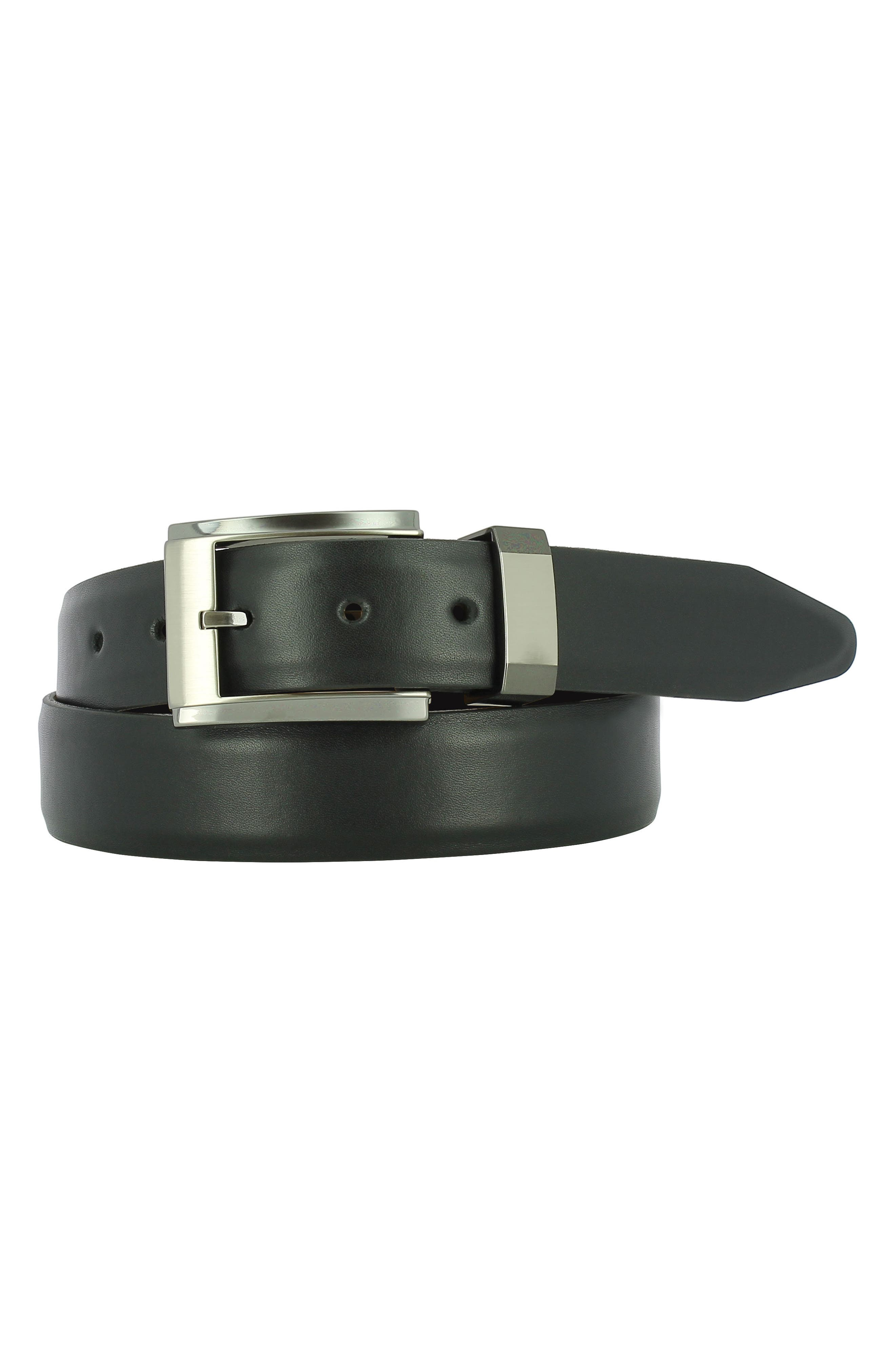 Luke Leather Belt,                             Main thumbnail 1, color,                             Black