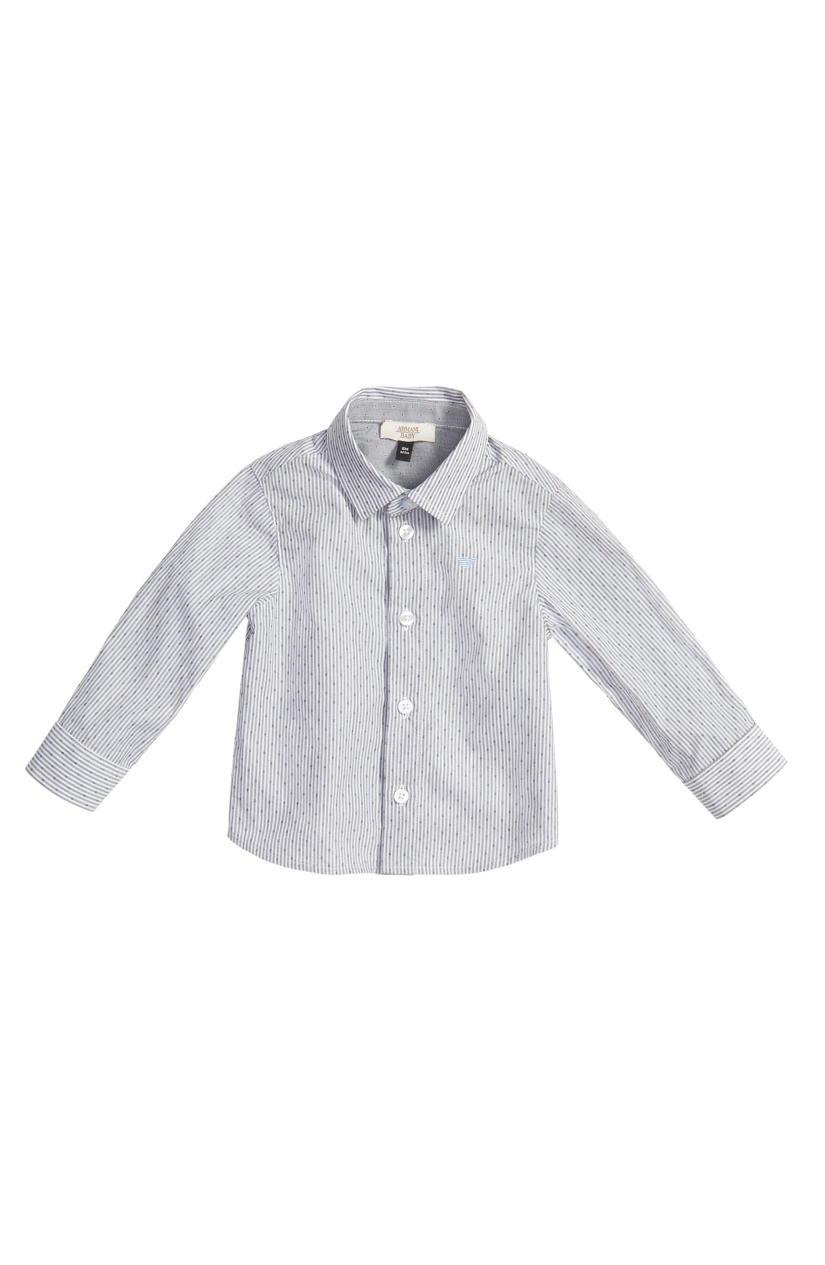 ARMANI JUNIOR Stripe Dress Shirt