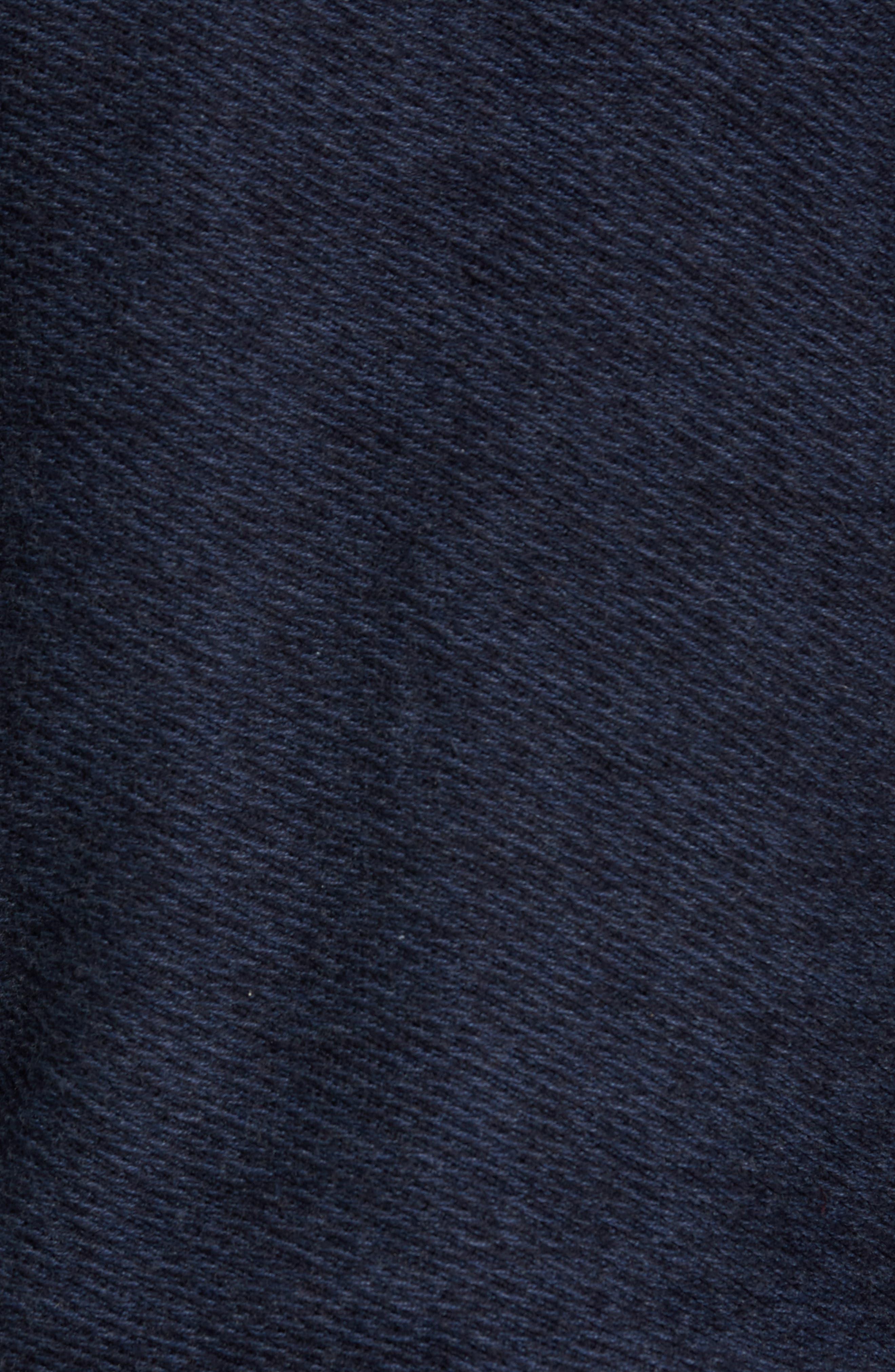 Cotton & Cashmere V-Neck Sweater,                             Alternate thumbnail 6, color,                             Navy Iris Melange