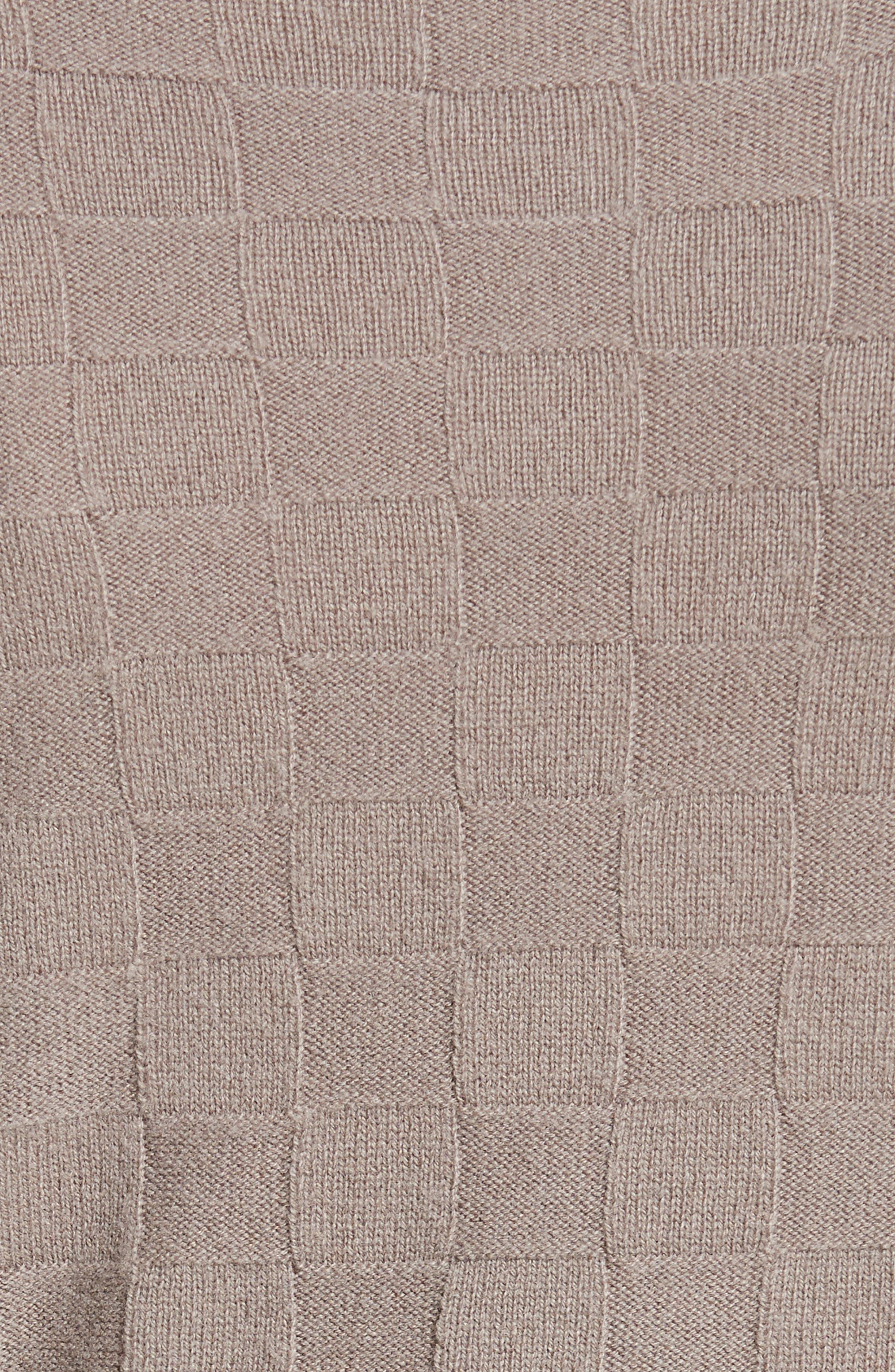 Alternate Image 3  - Armani Collezioni Checkerboard Cashmere Sweater