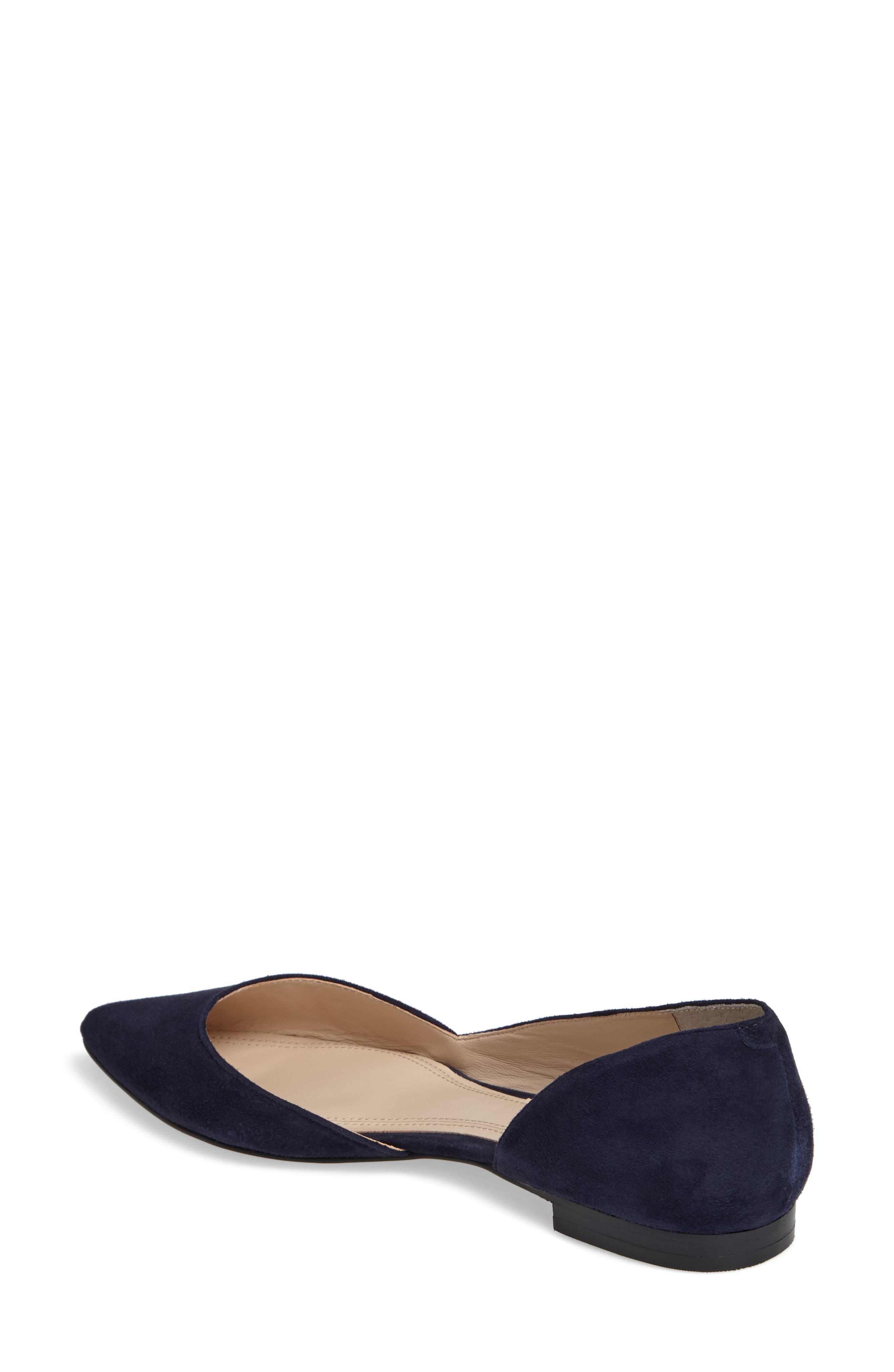 'Sunny' Half d'Orsay Flat,                             Alternate thumbnail 2, color,                             Bold Blue Suede