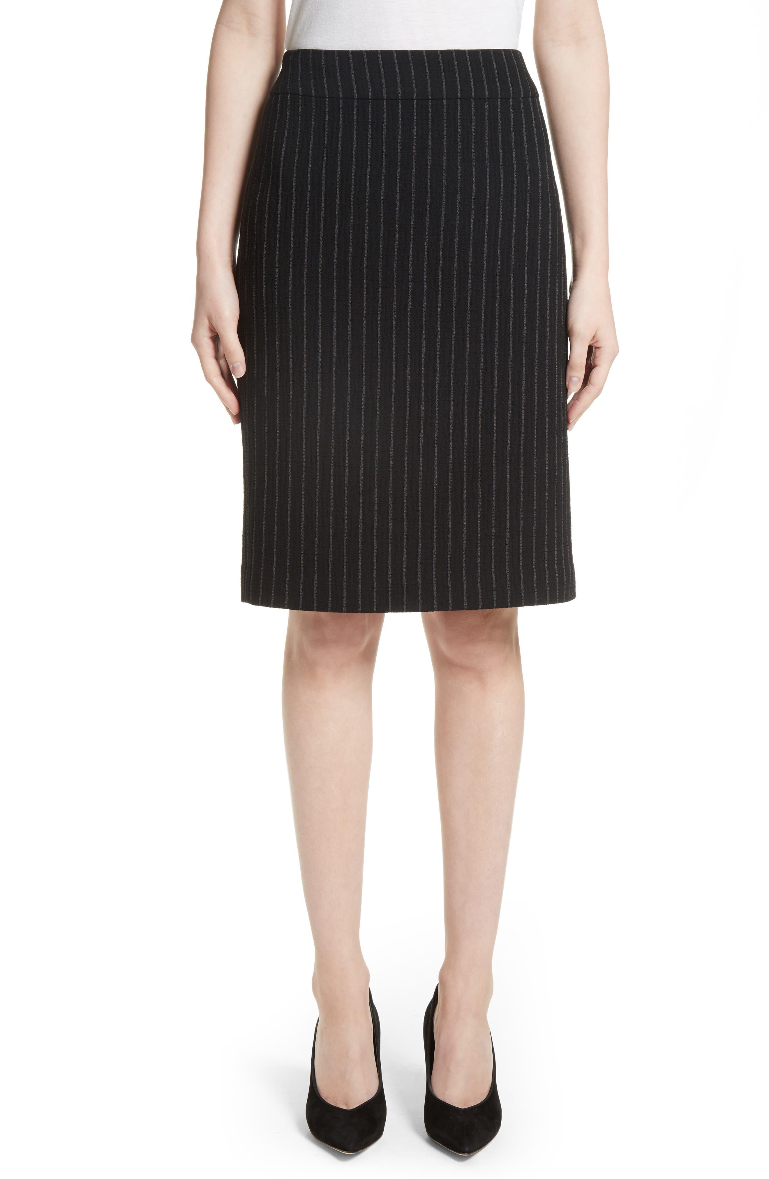 Main Image - Armani Collezioni Pinstripe Pencil Skirt