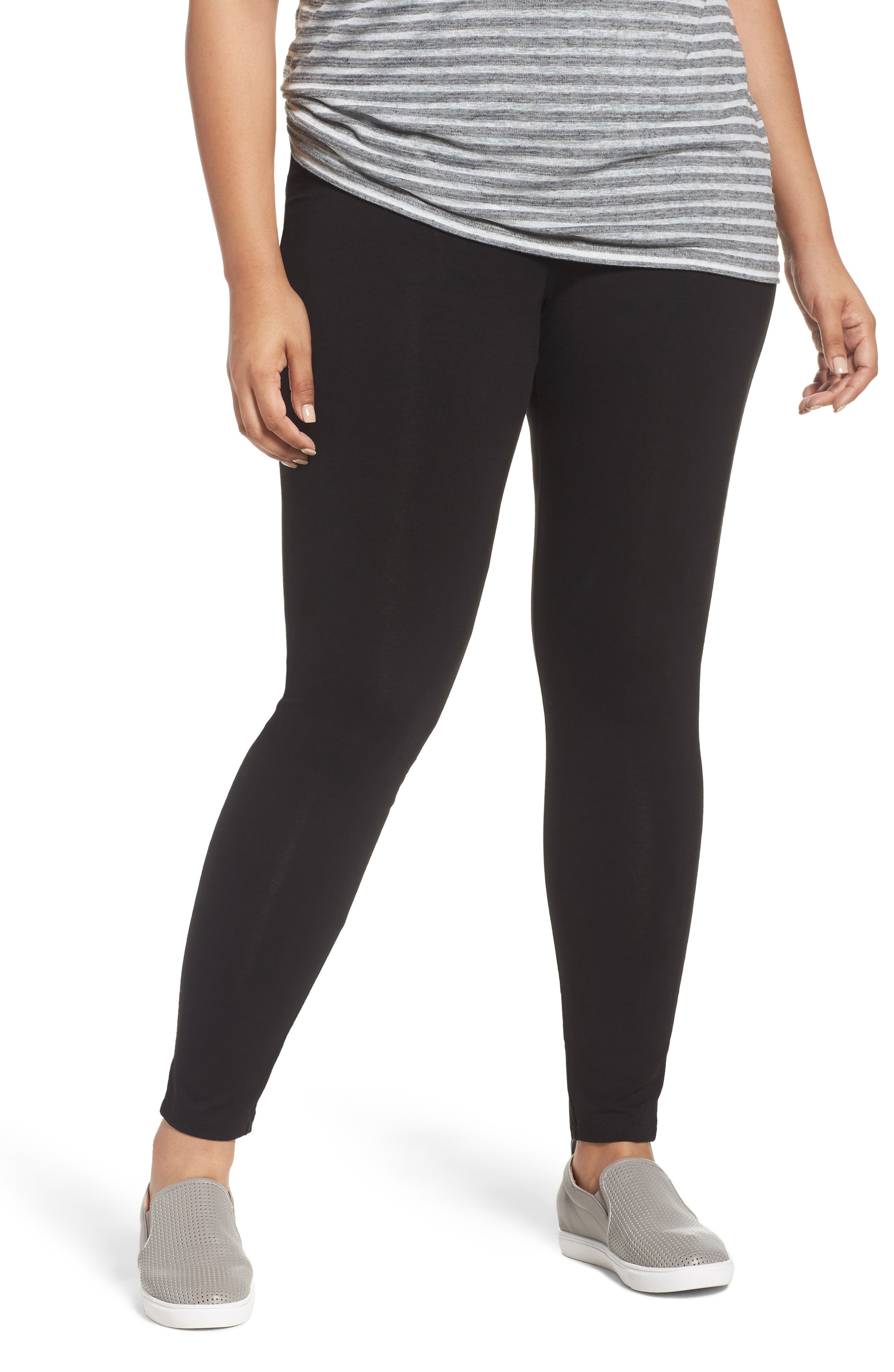 Caslon® High Waist Leggings (Plus Size)
