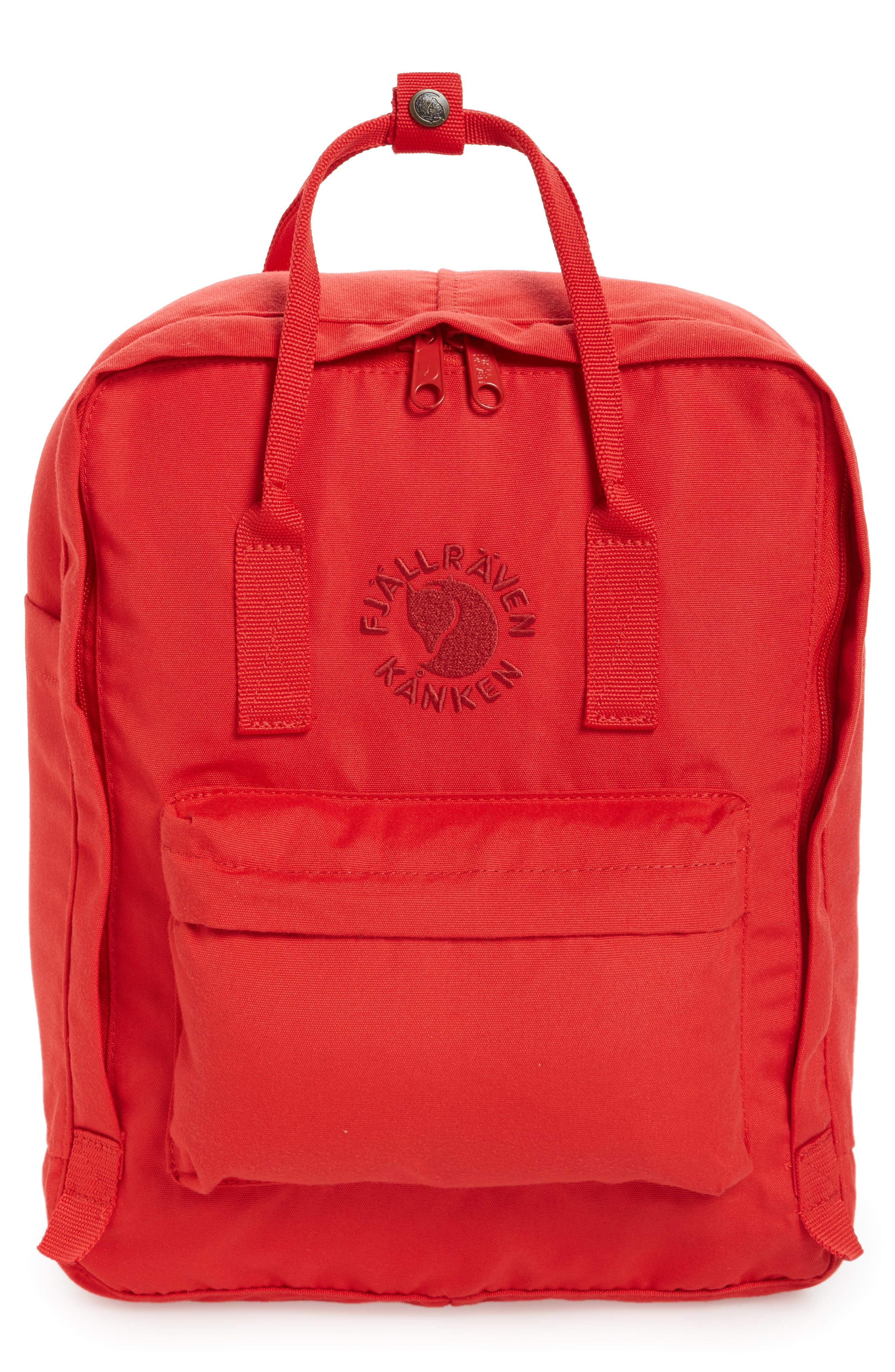Re-Kånken Water Resistant Backpack,                         Main,                         color, Red
