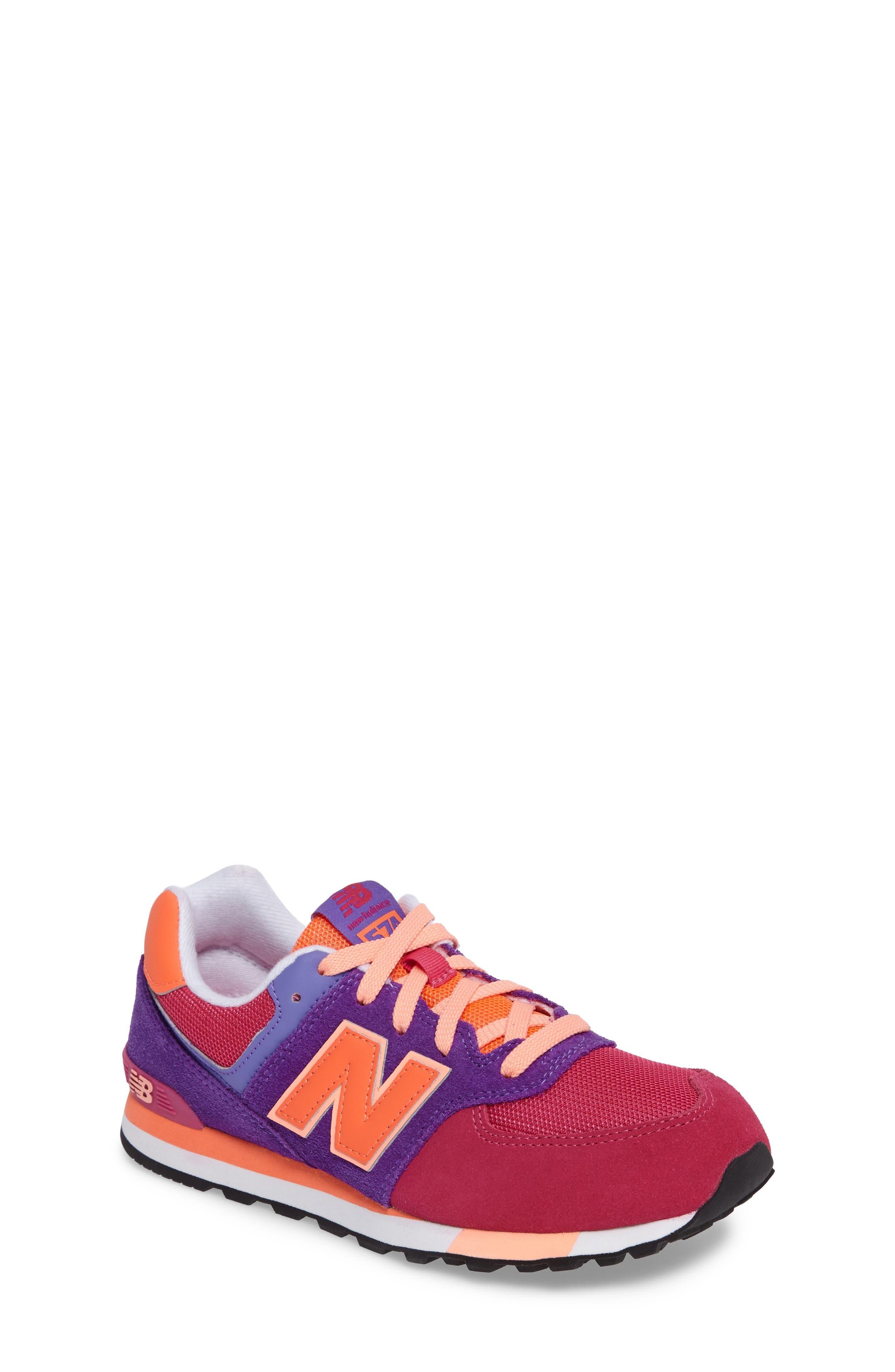 574 Cut & Paste Sneaker,                             Main thumbnail 1, color,                             Pink/ Purple