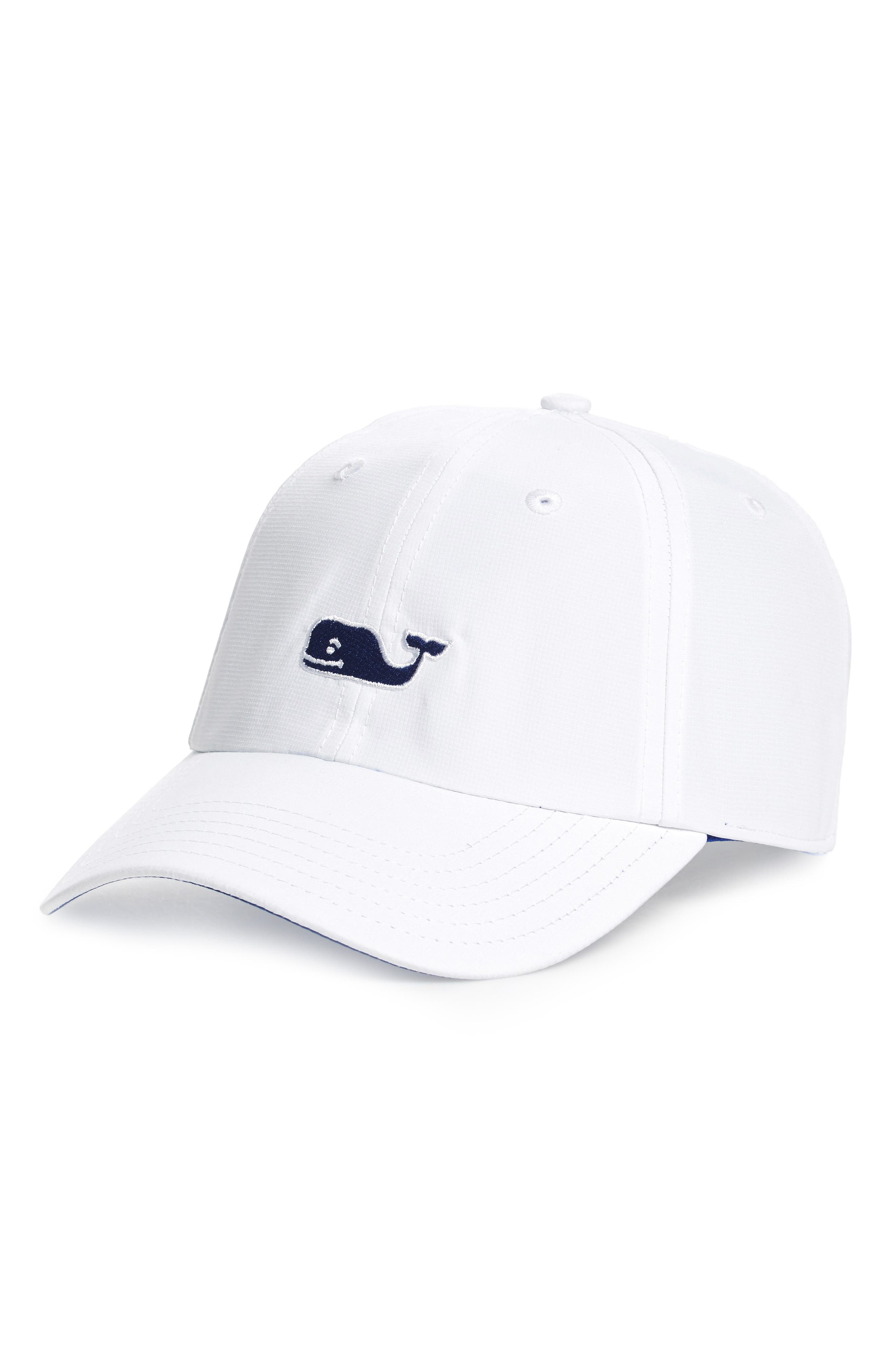 Vineyard Vines Lrage Whale Performance Baseball Cap