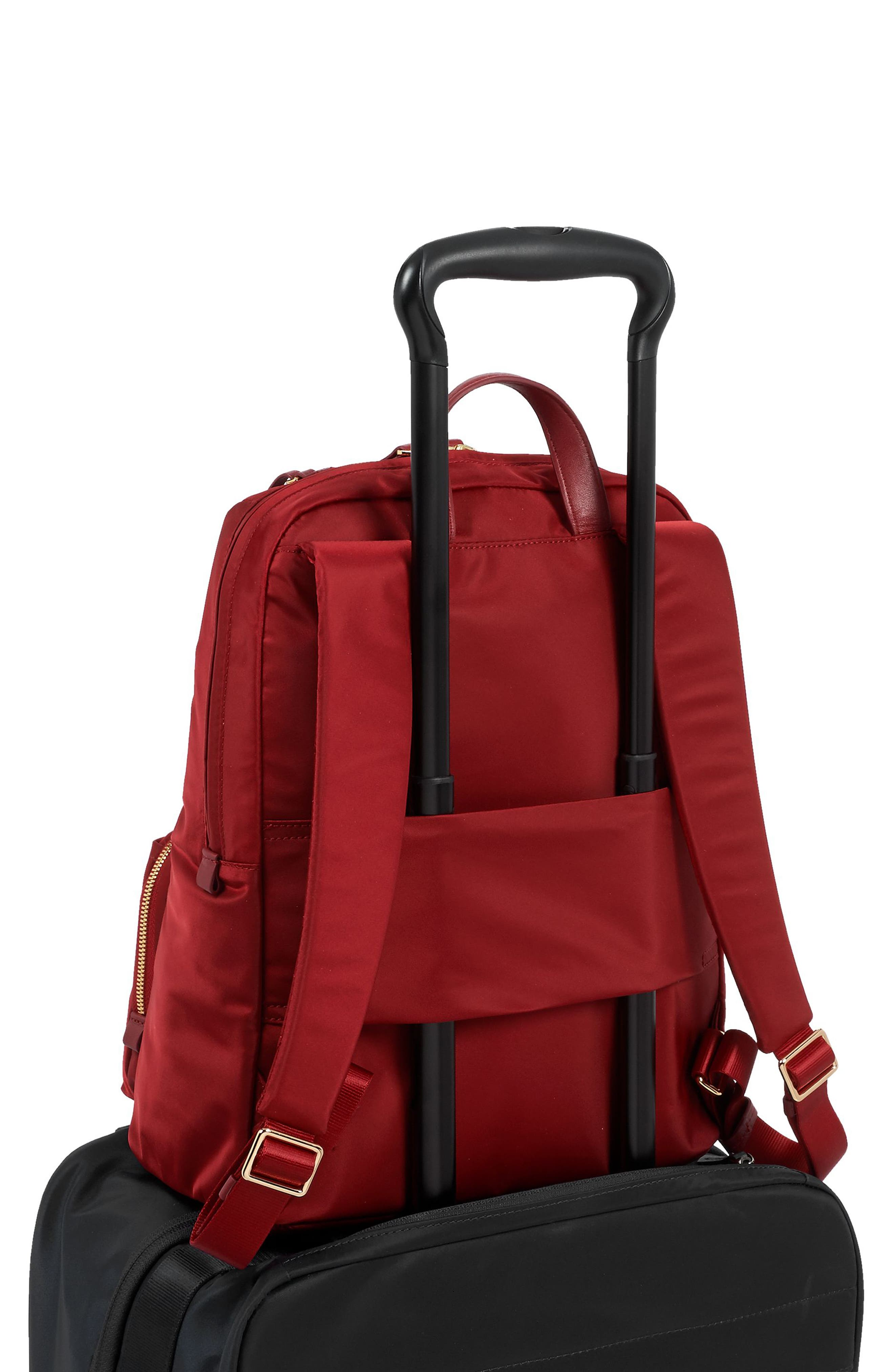 Voyageur Halle Nylon Backpack,                             Alternate thumbnail 6, color,                             Crimson