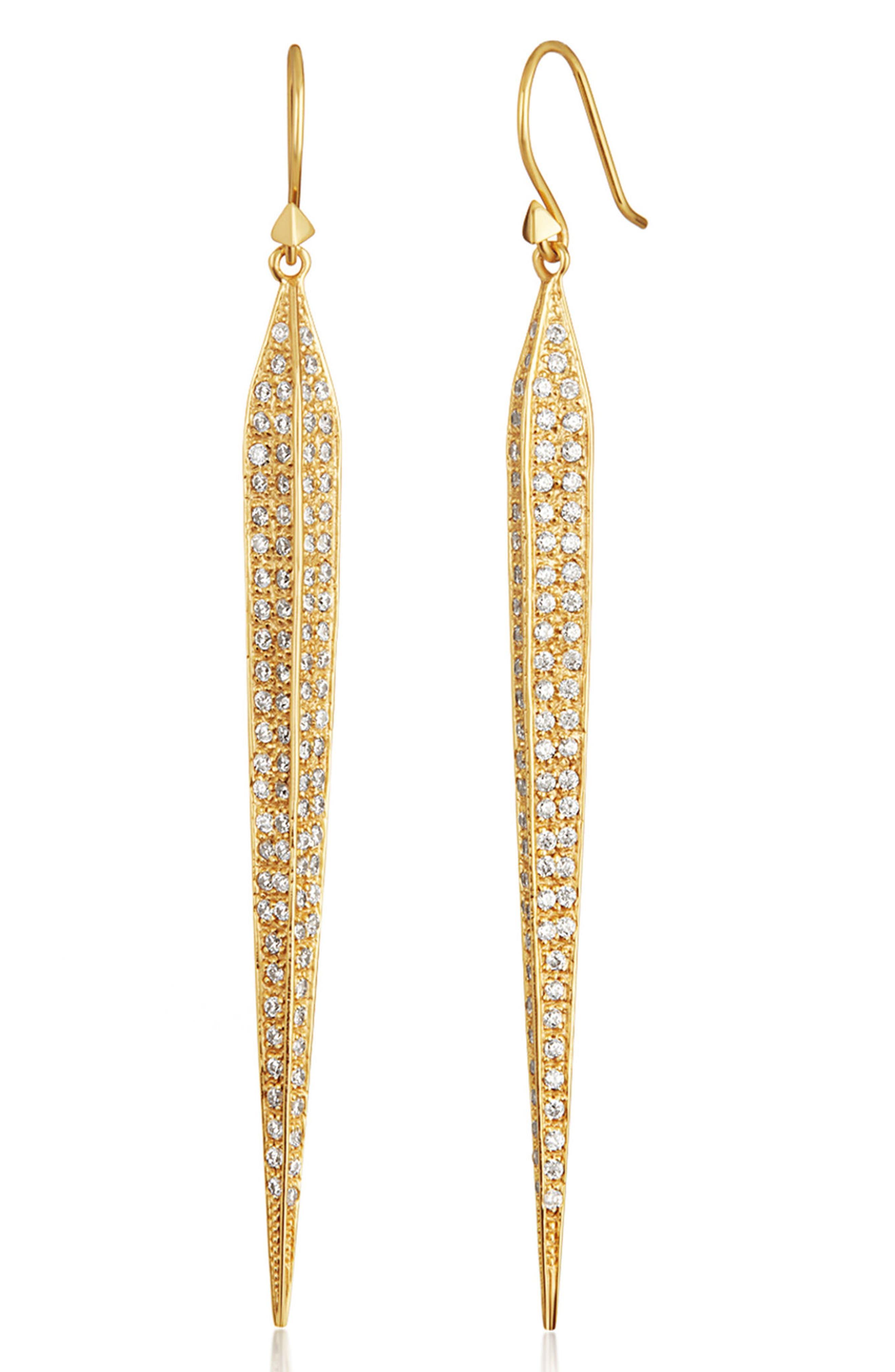 Alternate Image 1 Selected - Melinda Maria Preston Linear Earrings