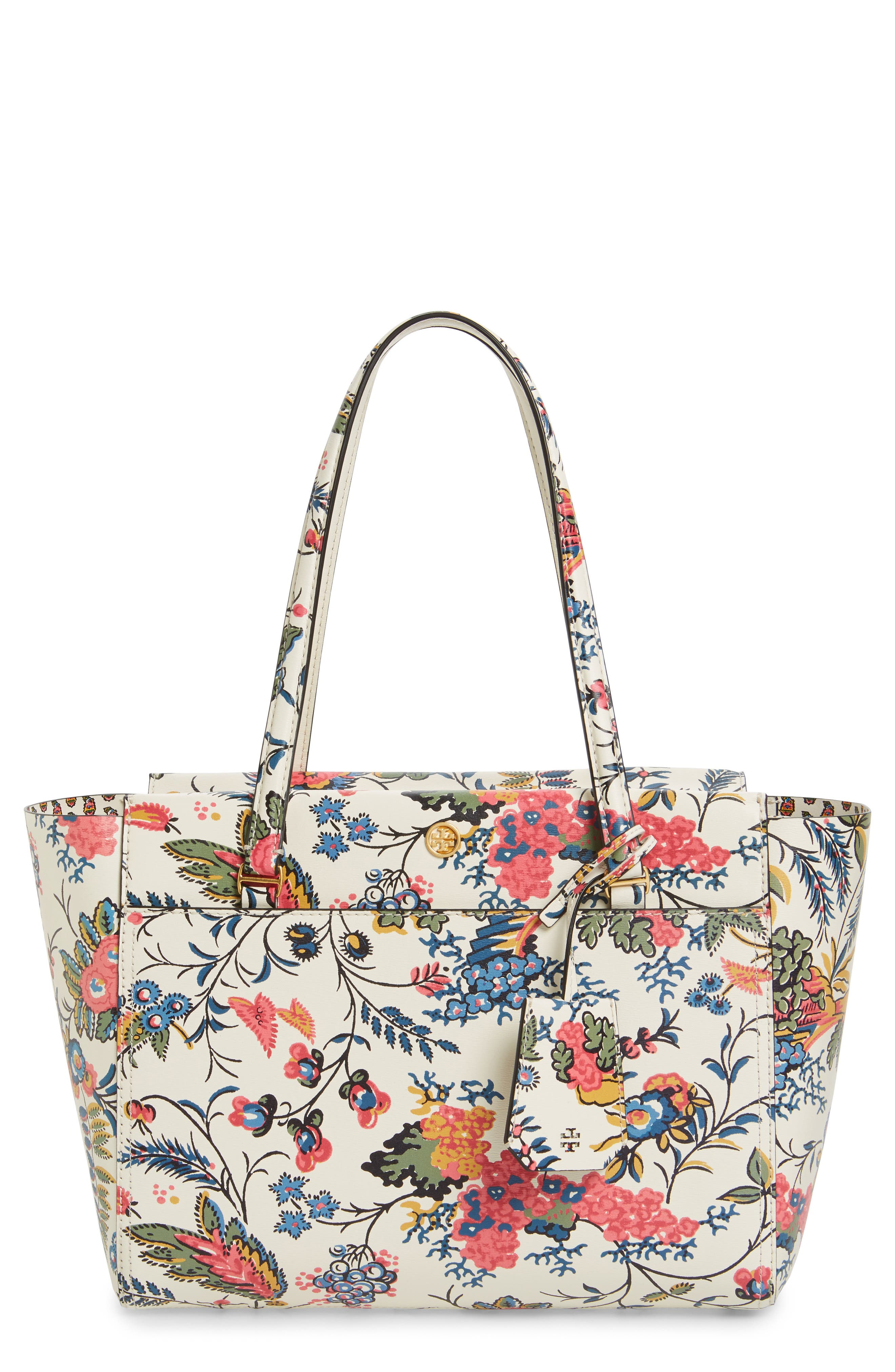 Tory Burch Small Parker Floral Leather Tote