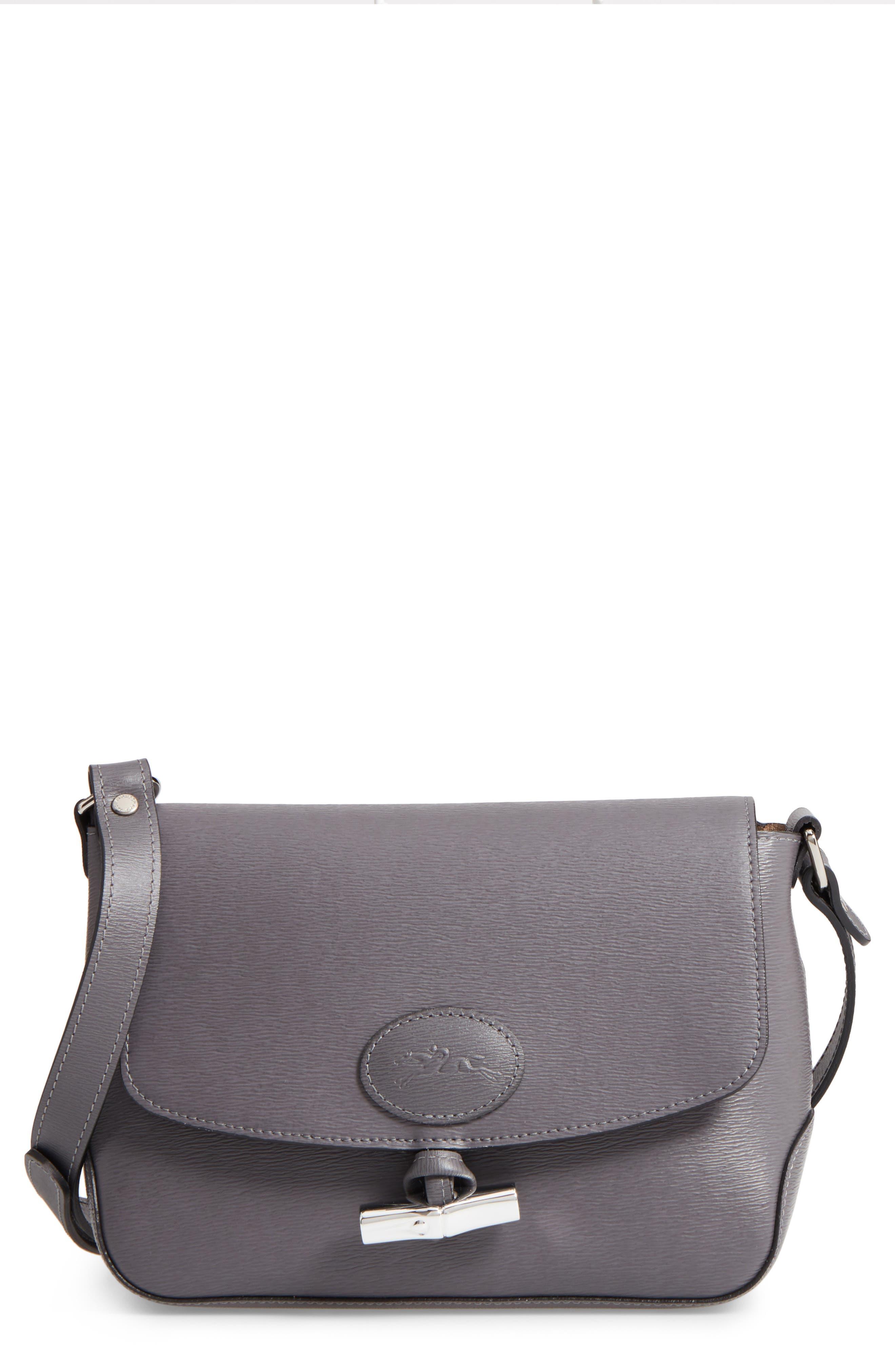 LONGCHAMP Roseau Leather Crossbody Bag