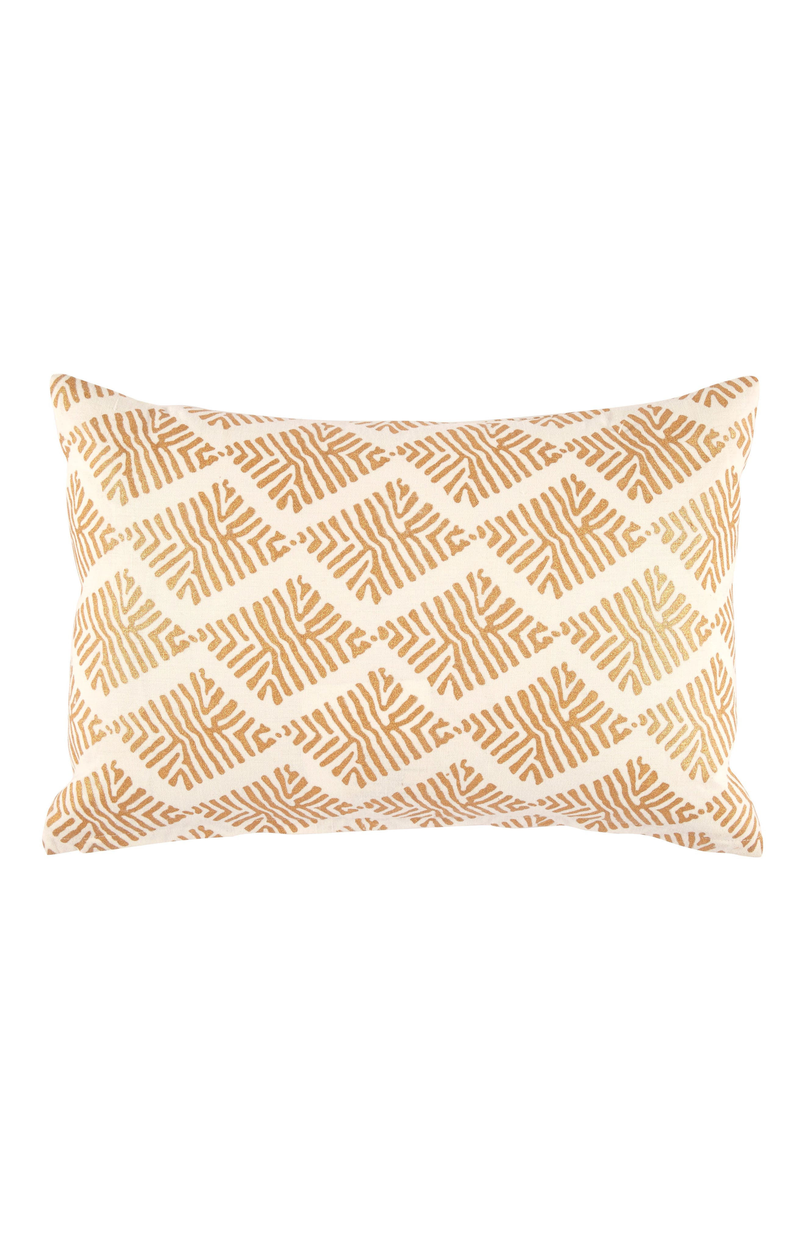 Sharak Accent Pillow,                         Main,                         color, White/ Gold