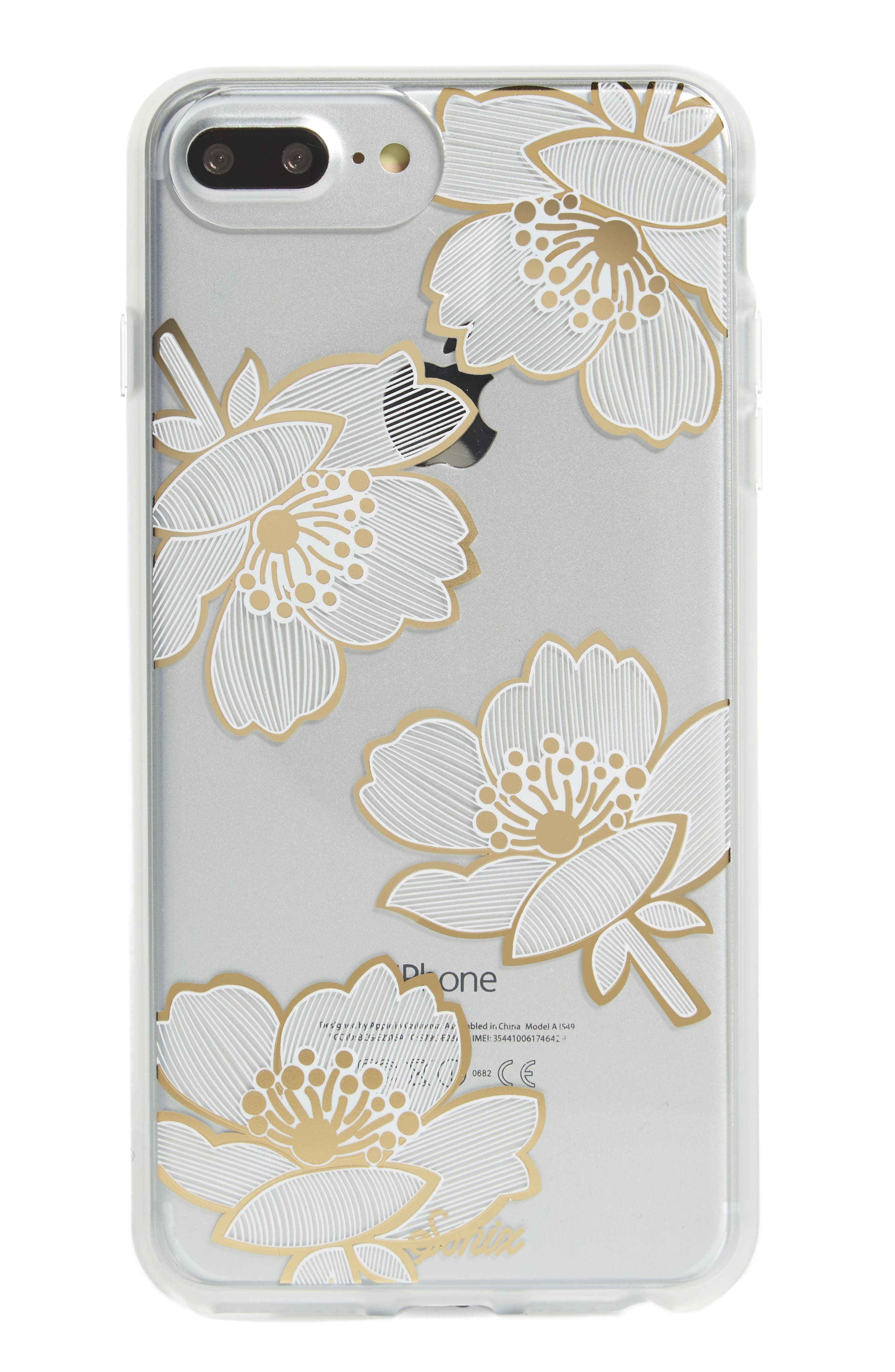 Bellflower iPhone 6/6s/7/8 & 6/6s/7/8 Plus Case,                             Main thumbnail 1, color,                             Gold