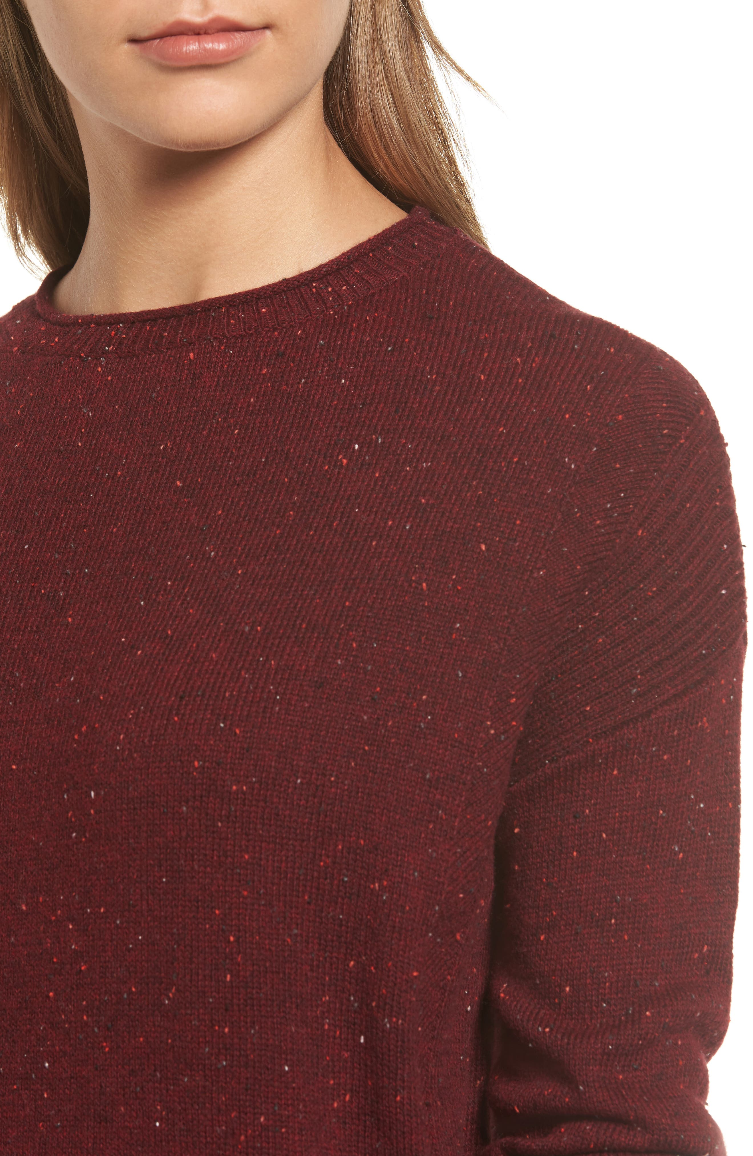 Alternate Image 4  - Caslon® Back Zip Pullover