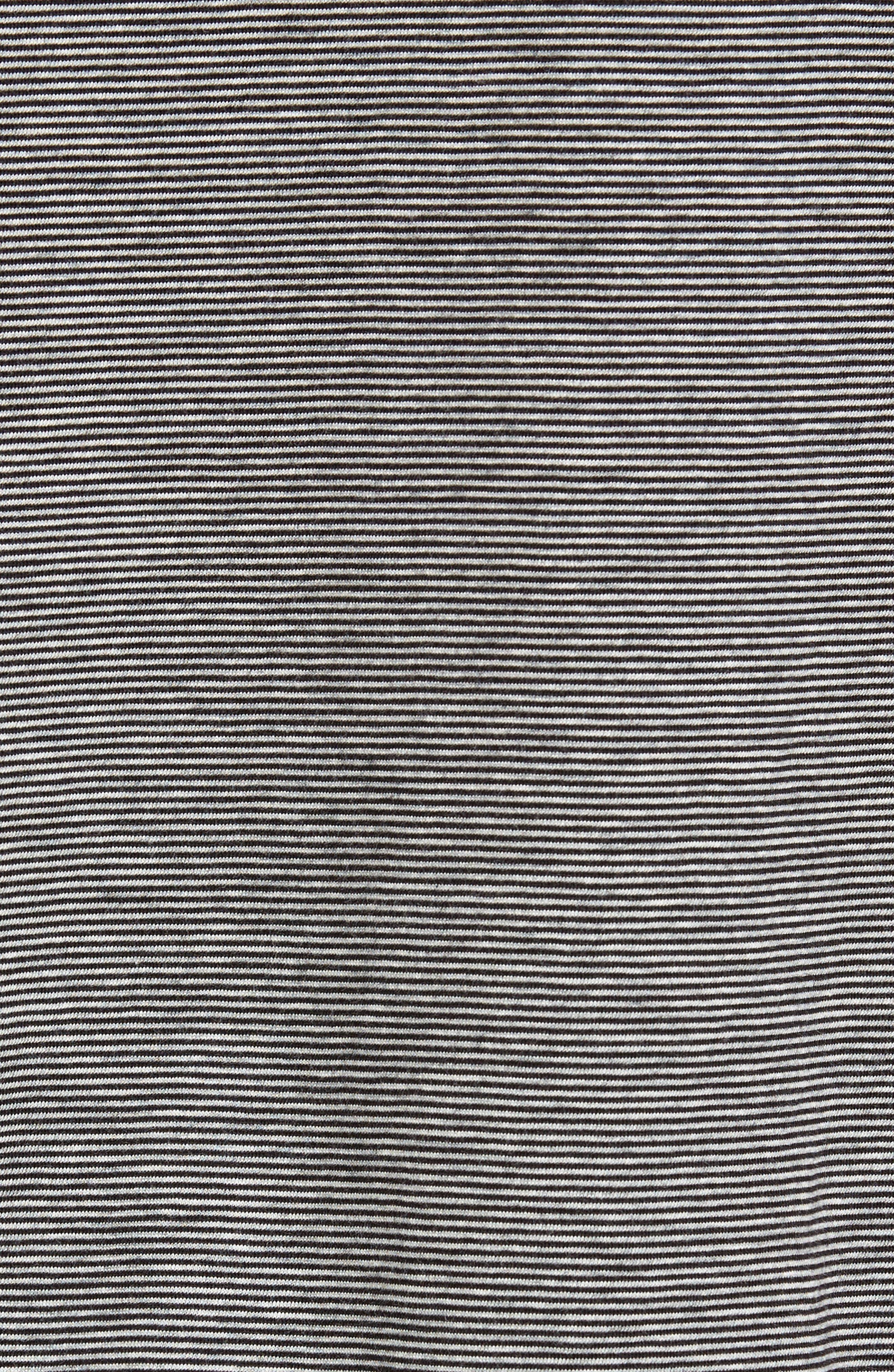 Peruvian Pima Cotton T-Shirt,                             Alternate thumbnail 6, color,                             Black/ Grey Heather