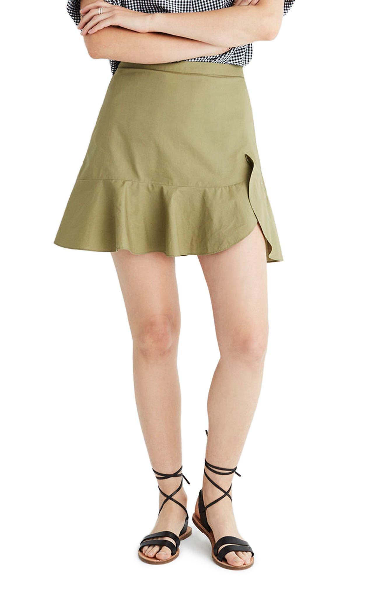 MADEWELL Safari Ruffle Skirt