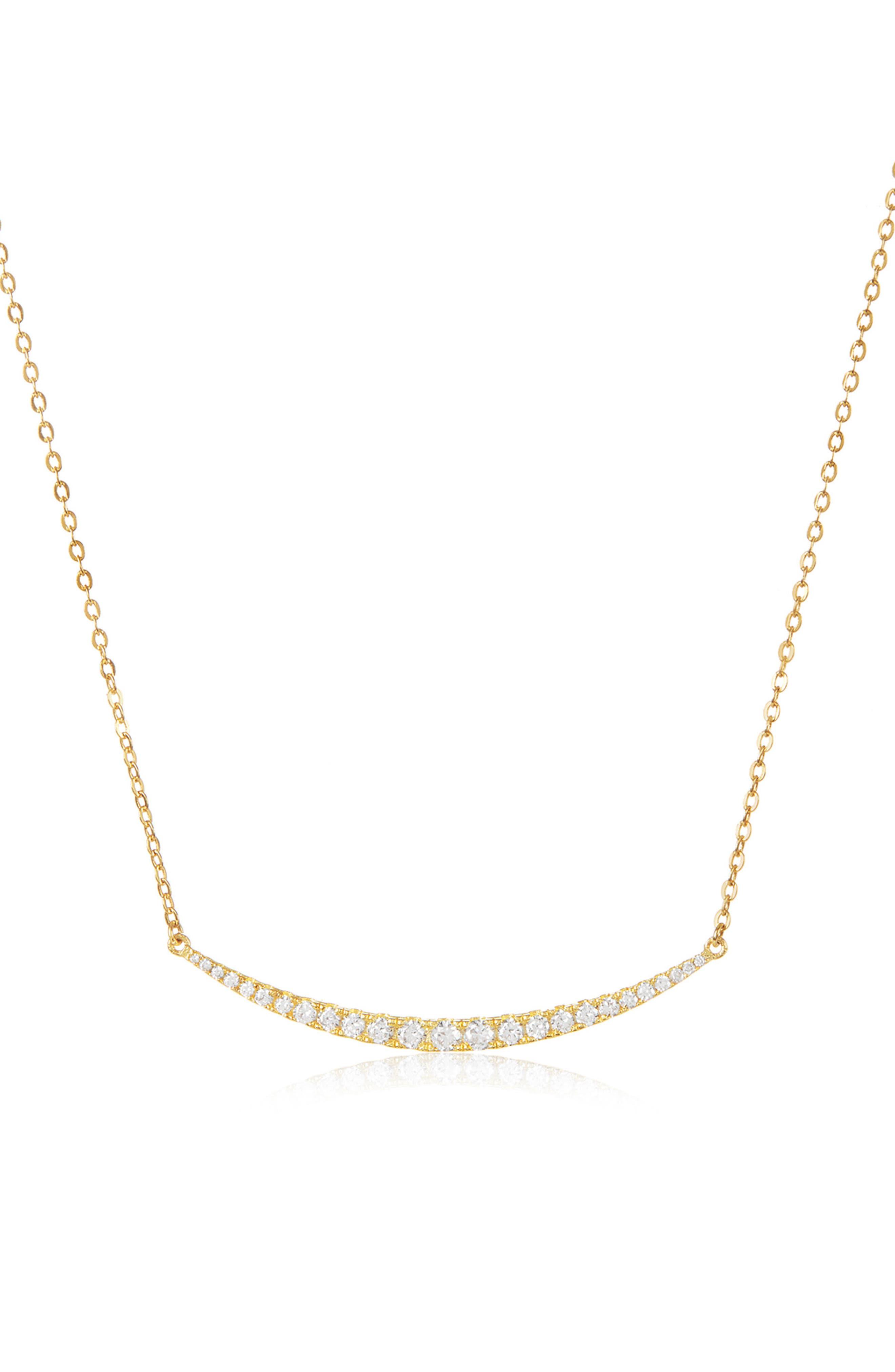 Alternate Image 2  - Melinda Maria Crescent Pendant Necklace
