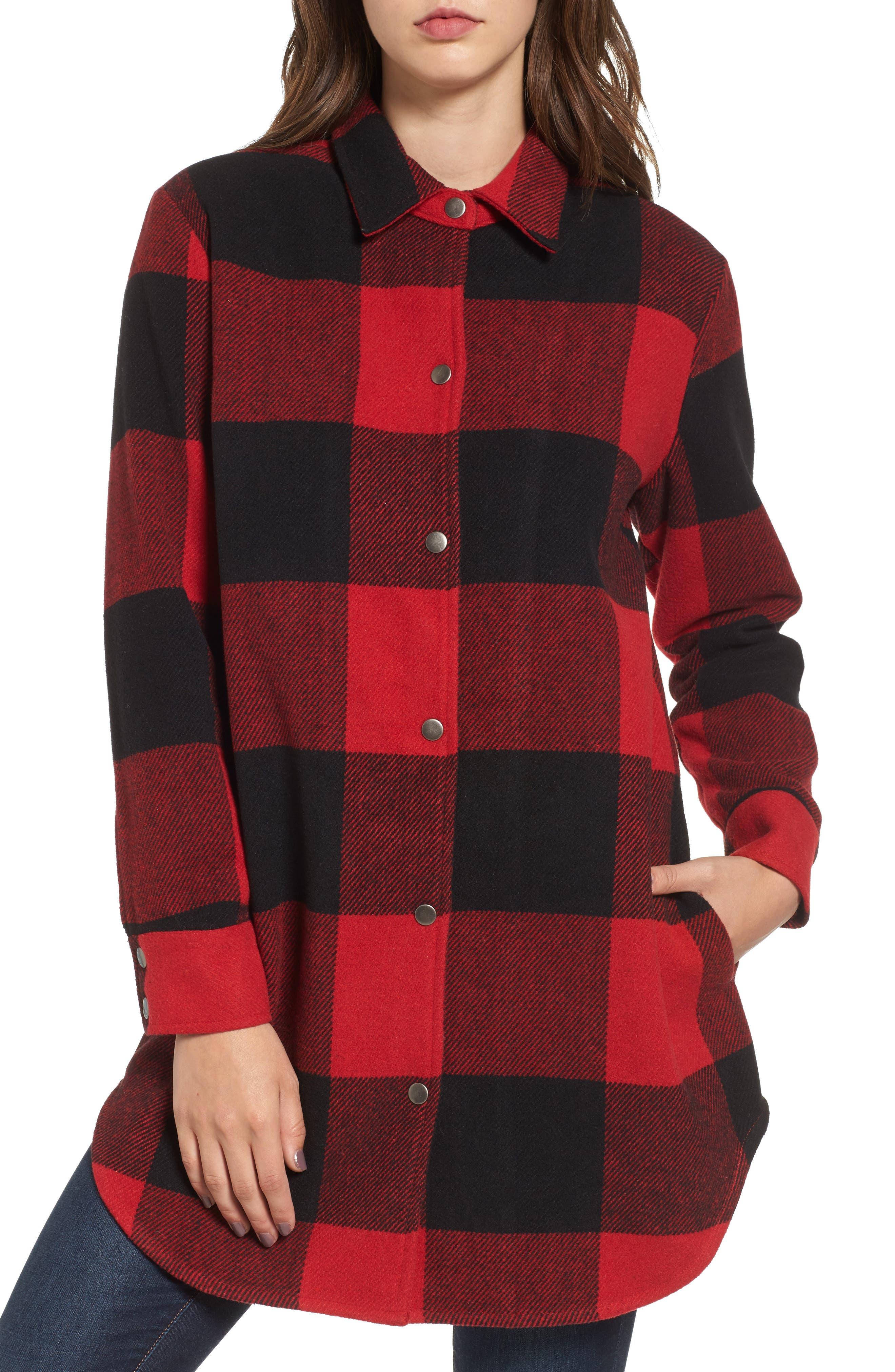 Main Image - BB Dakota Eldridge Oversize Buffalo Check Shirt Jacket