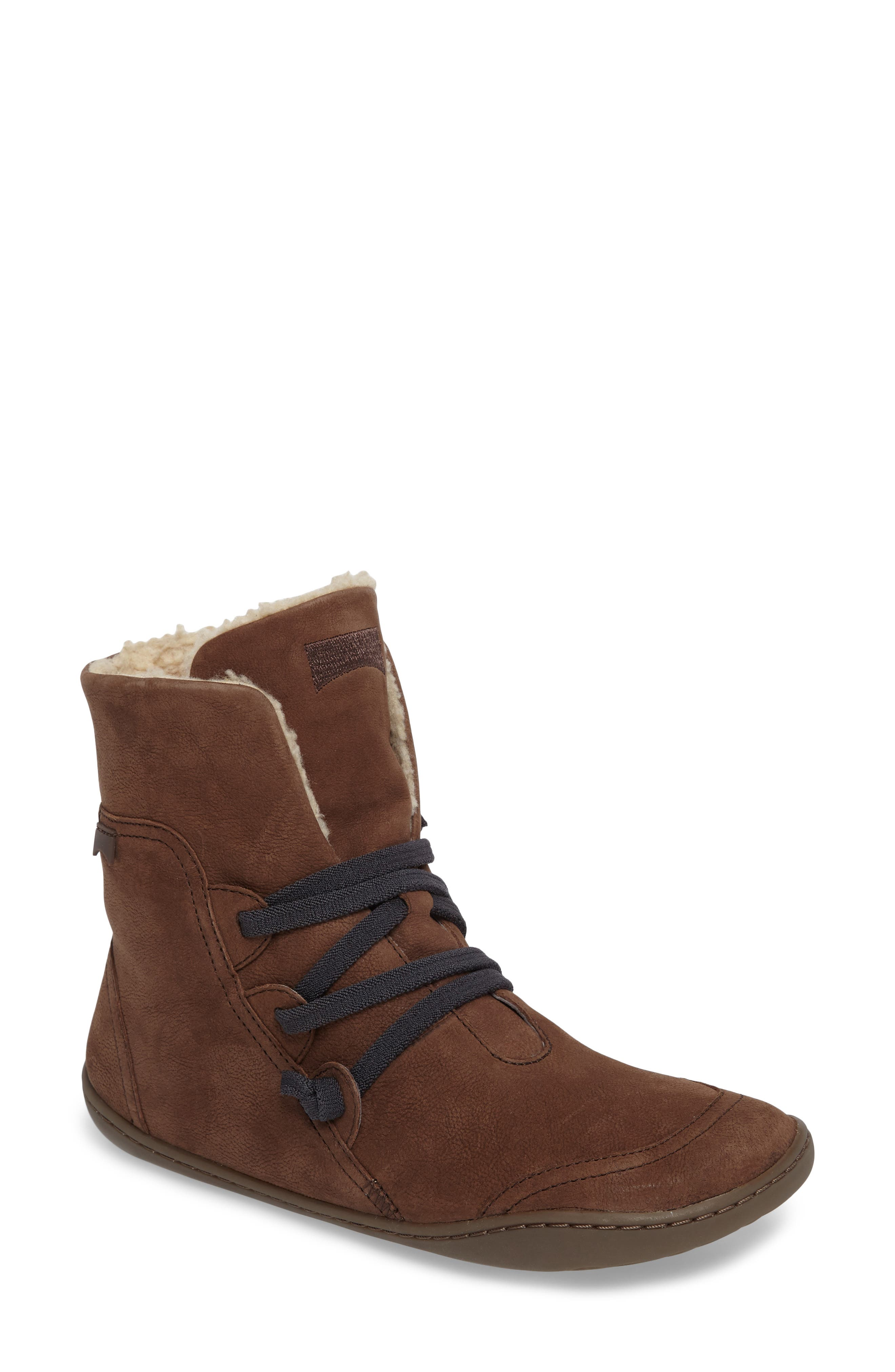'Peu Cami' Bootie,                         Main,                         color, Brown Leather