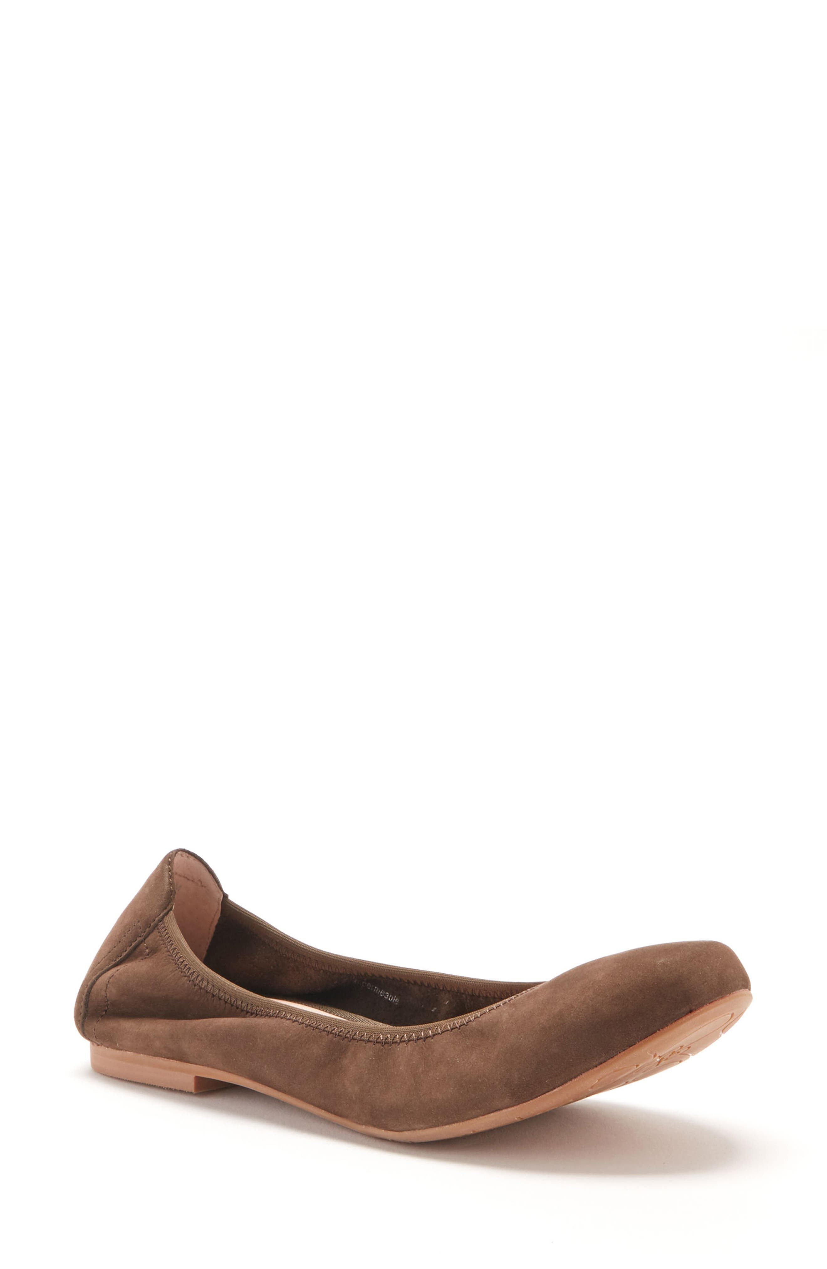 Becca Waterproof Flat,                             Main thumbnail 1, color,                             Taupe Nubuck Leather