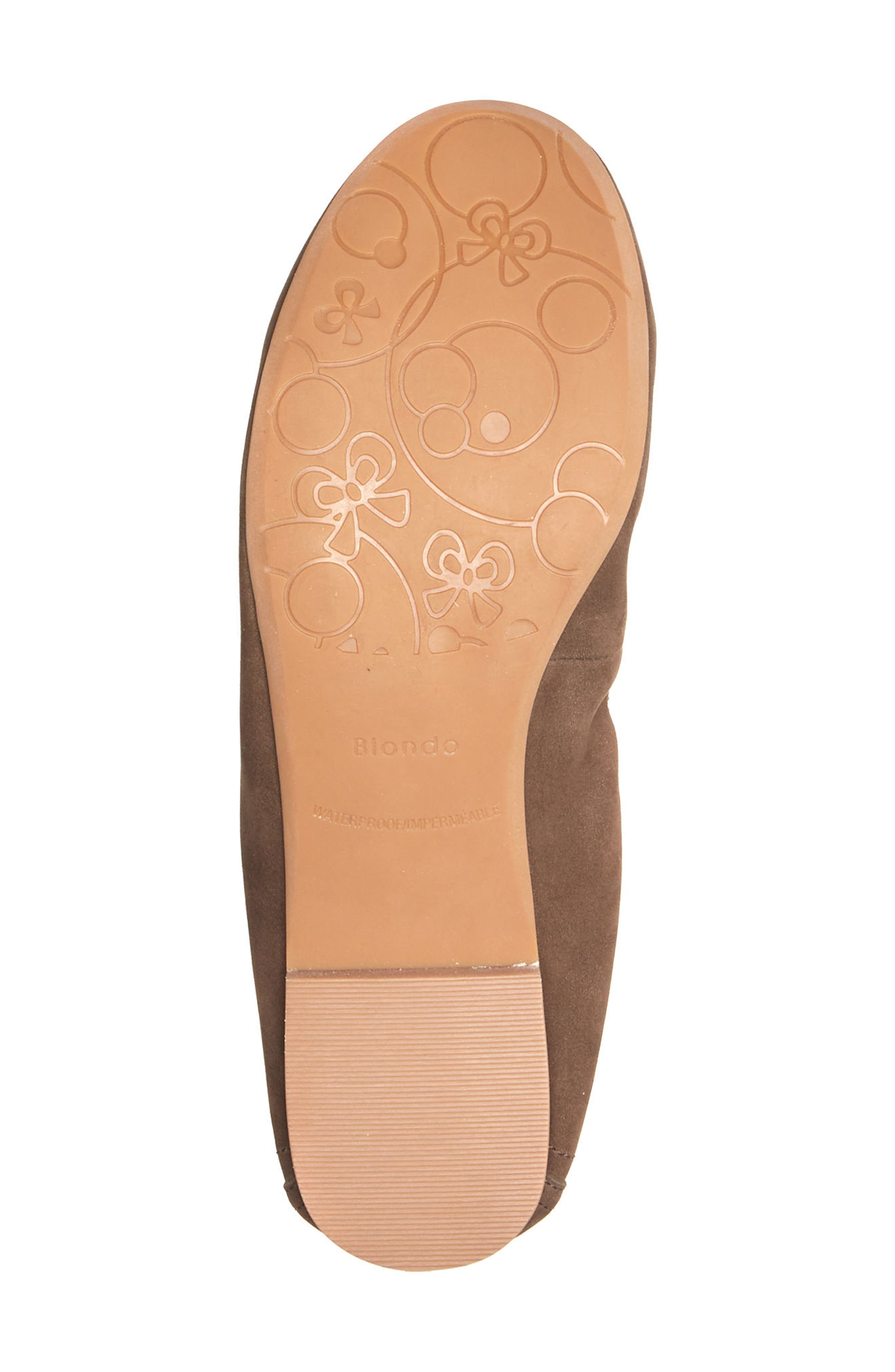 Becca Waterproof Flat,                             Alternate thumbnail 6, color,                             Taupe Nubuck Leather