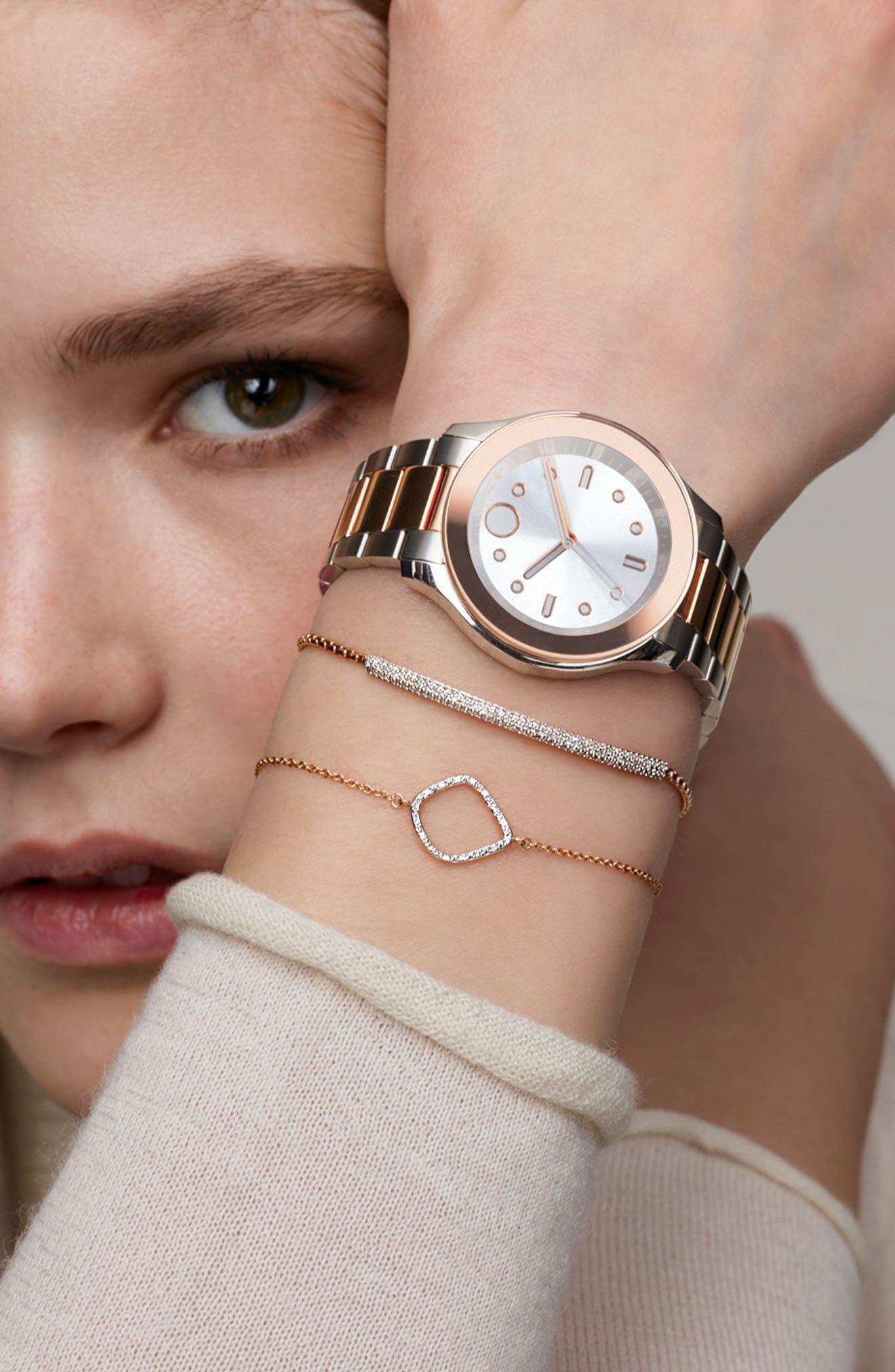 Alternate Image 5  - Movado Bold Two-Tone Bracelet Watch, 38mm