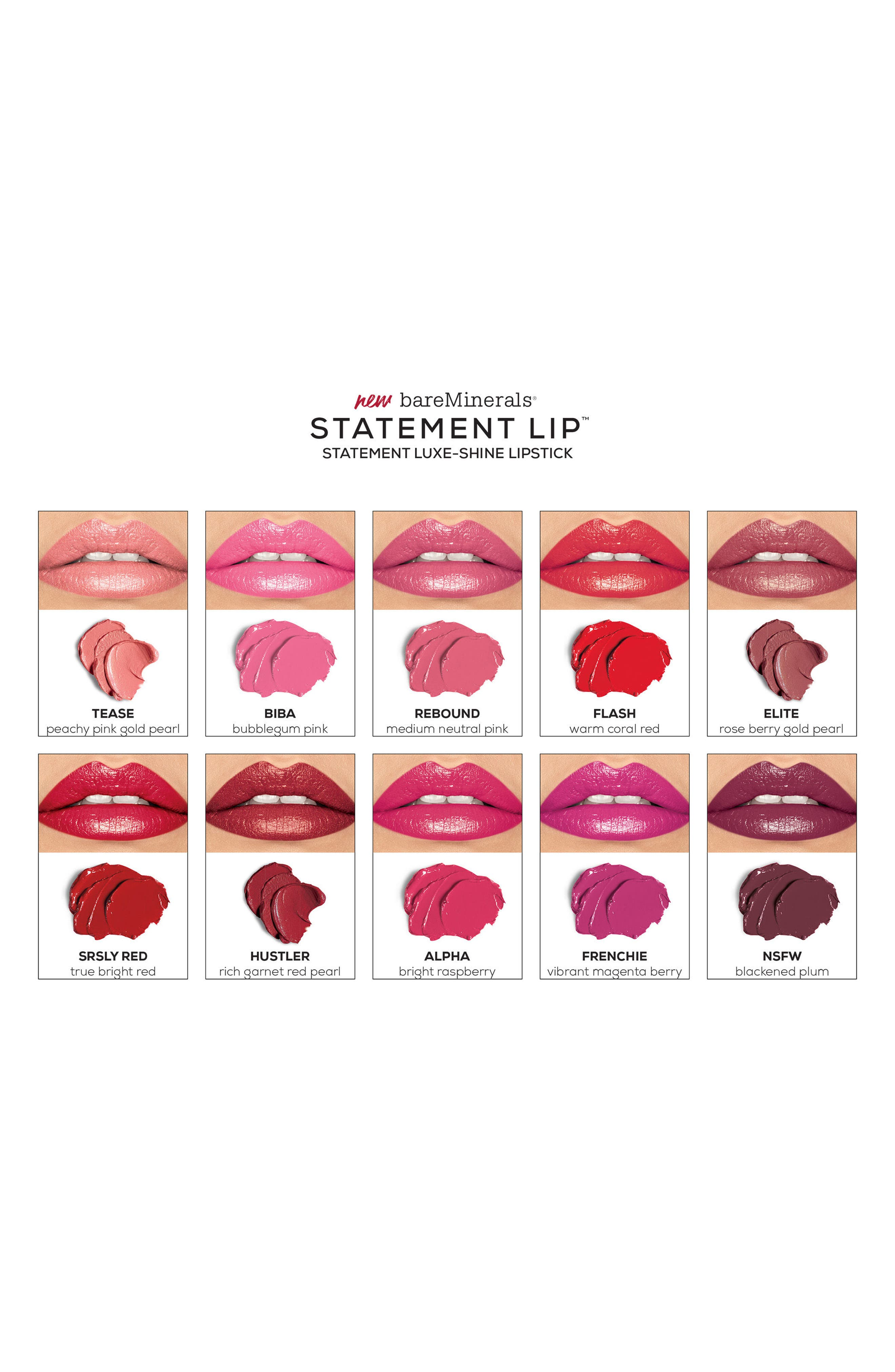 Alternate Image 3  - bareMinerals® Statement™ Luxe Shine Lipstick