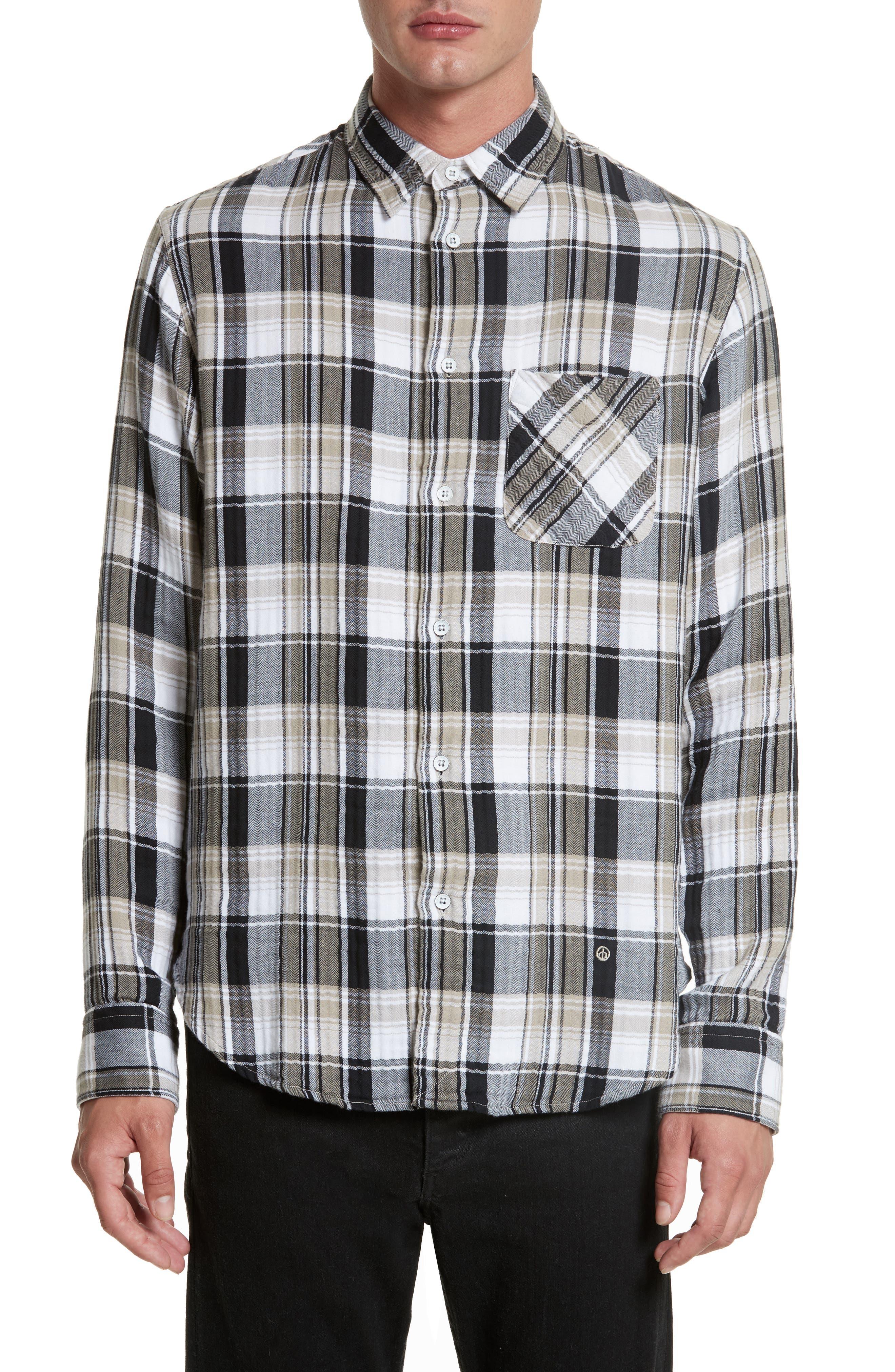 Fit 3 Beach Plaid Woven Shirt,                         Main,                         color, Bark