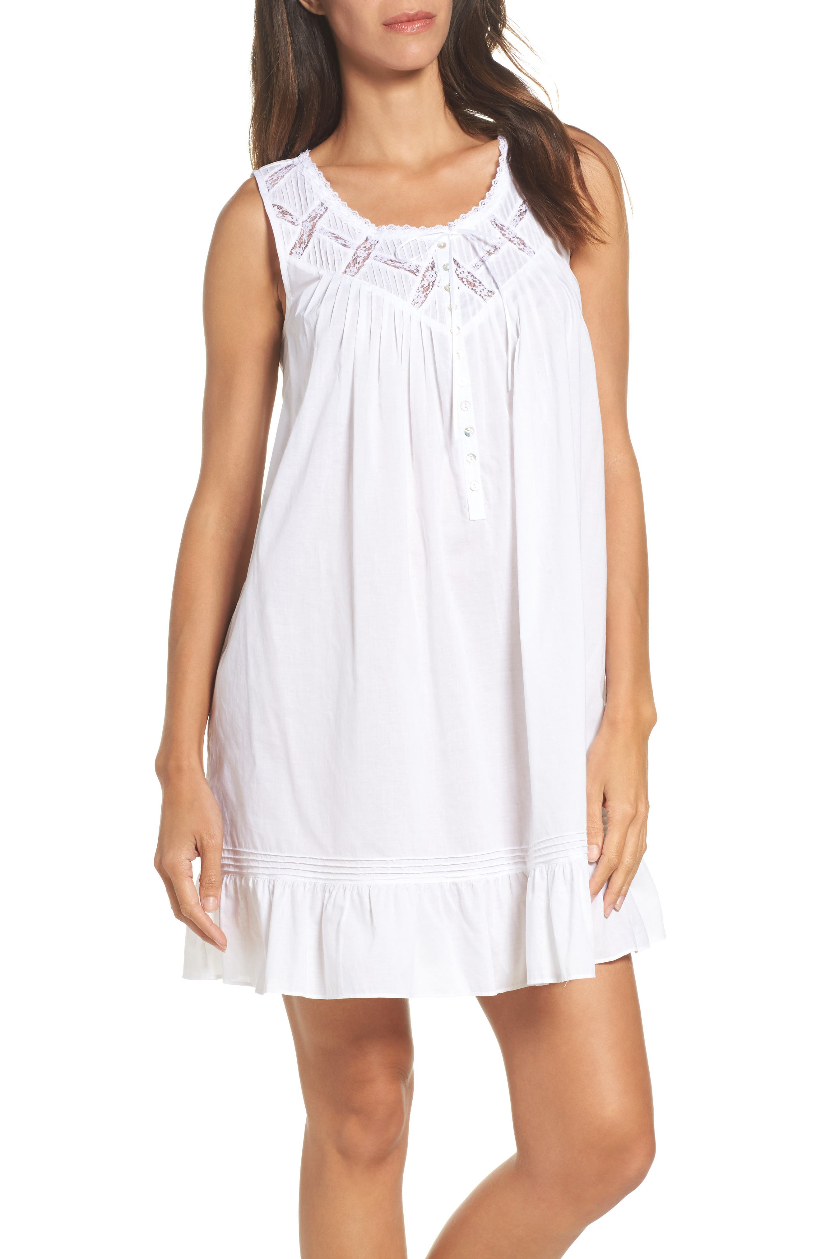 Alternate Image 1 Selected - Eileen West Cotton Chemise