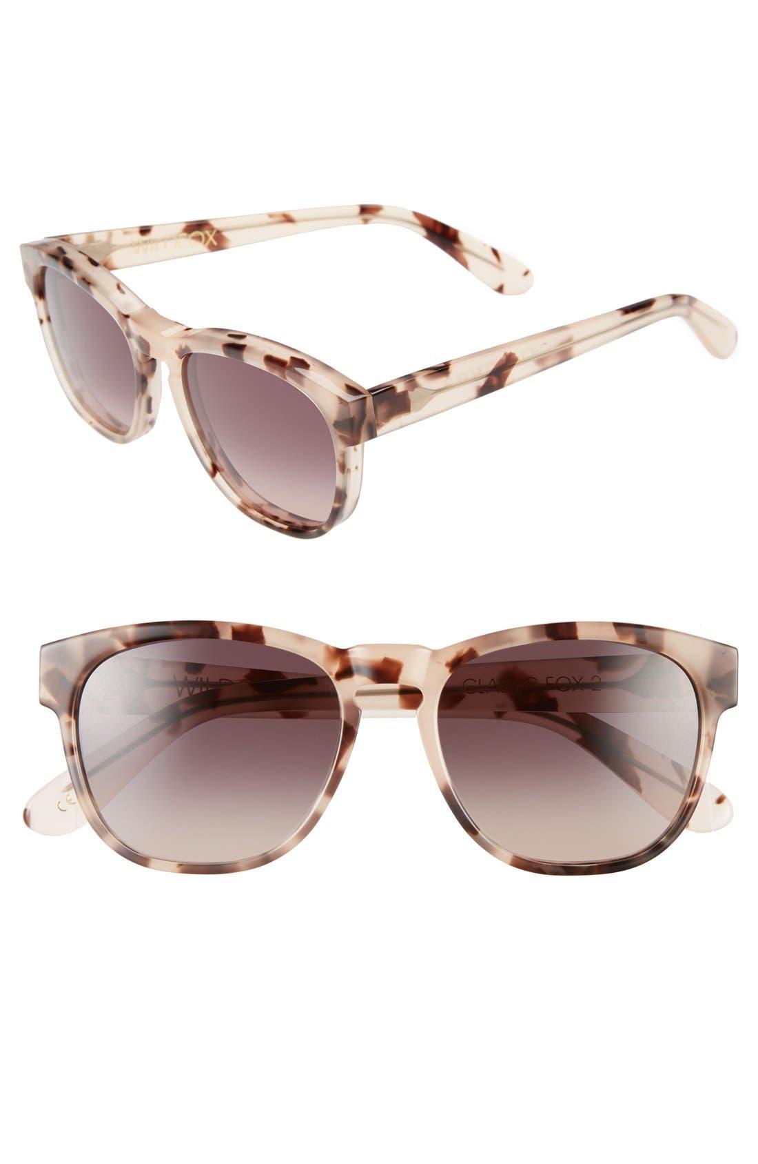 'Classic Fox 2' 52mm Sunglasses,                         Main,                         color, Antique Leaves