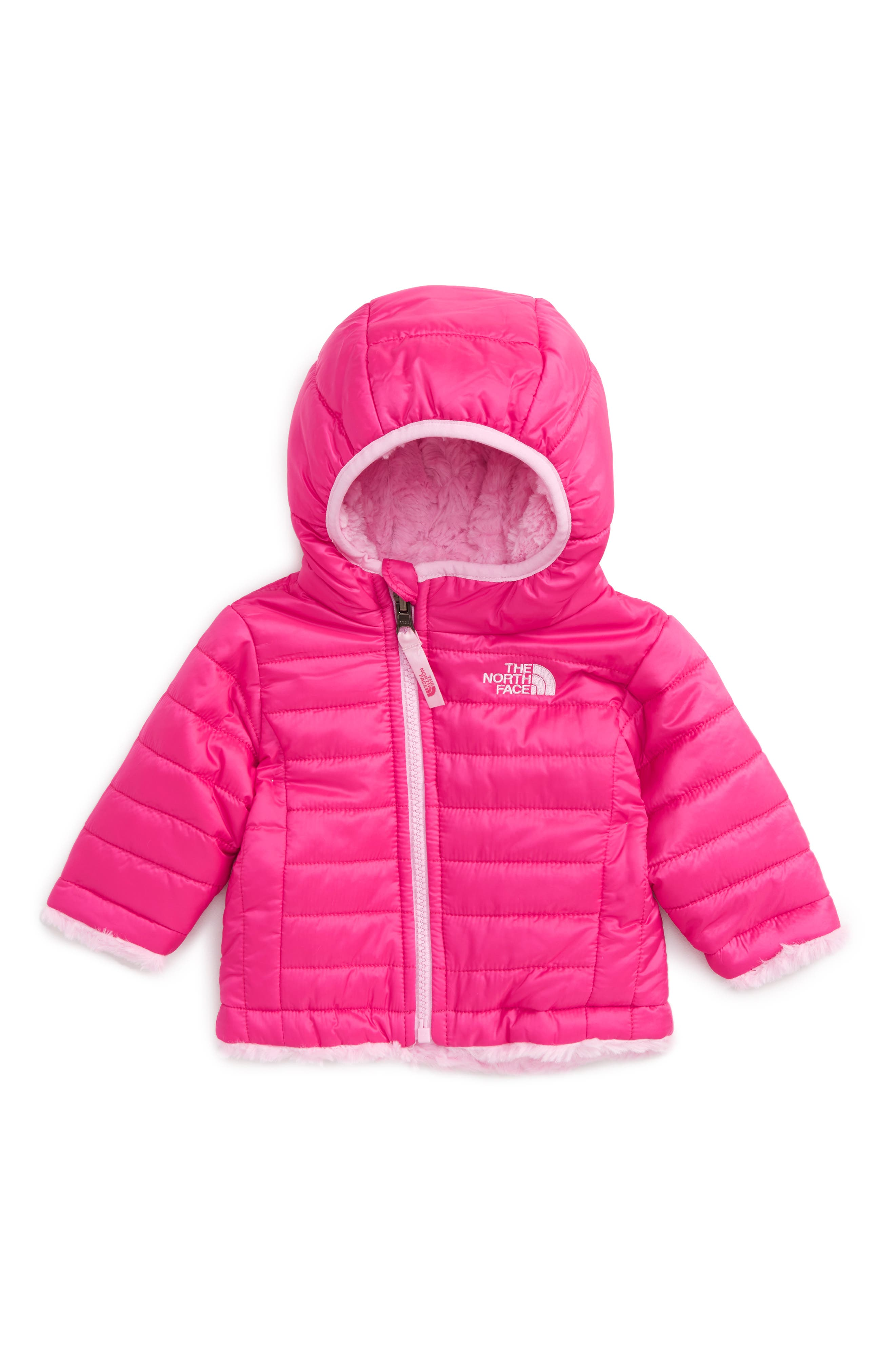 Main Image - The North Face 'Mossbud' Reversible Water Repellent Jacket (Baby Girls)