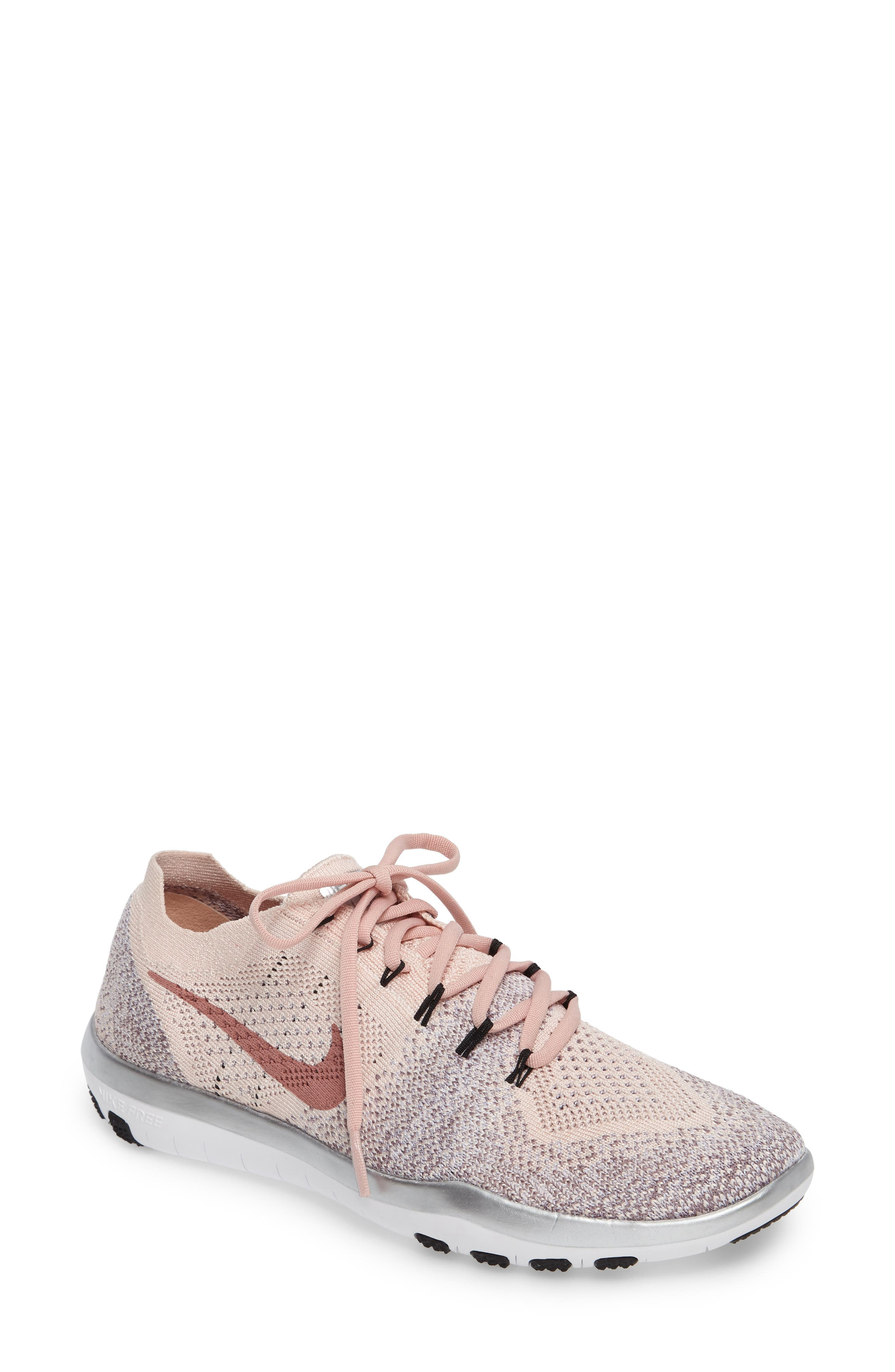 Nike Free Focus Flyknit Bionic Training Womens Shoes Blush Pink Sunset Ombre 7.5