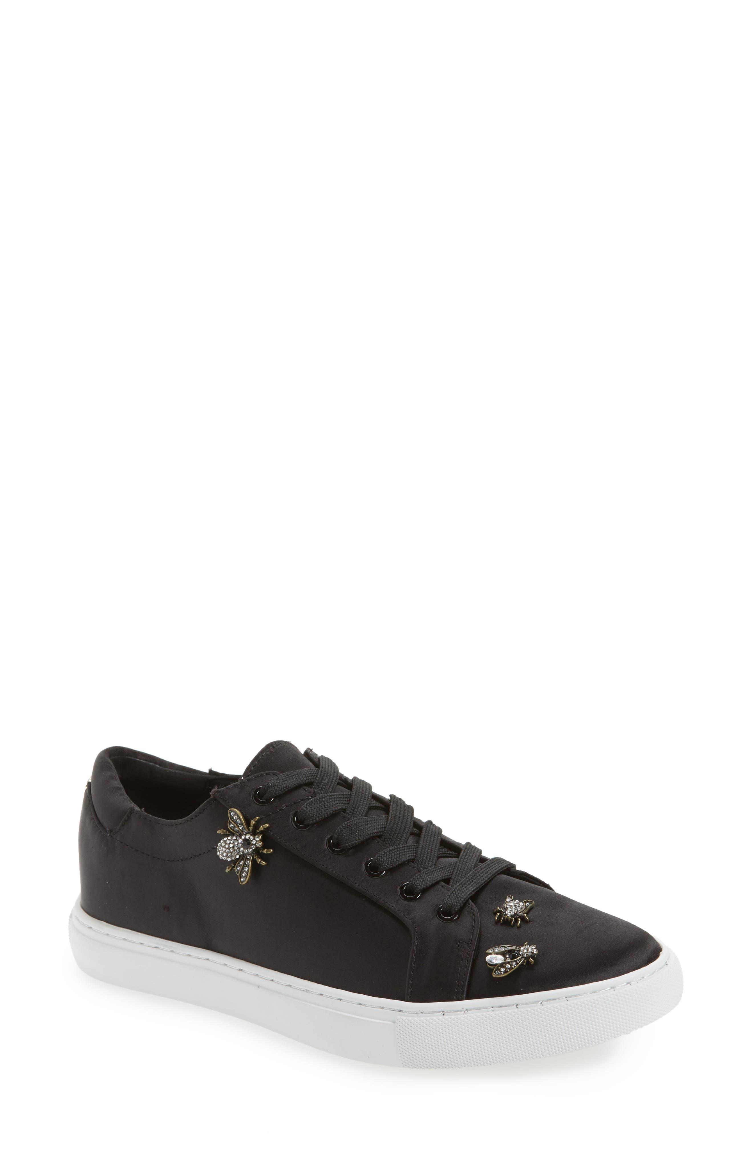 'Kam' Sneaker,                         Main,                         color, Black Satin