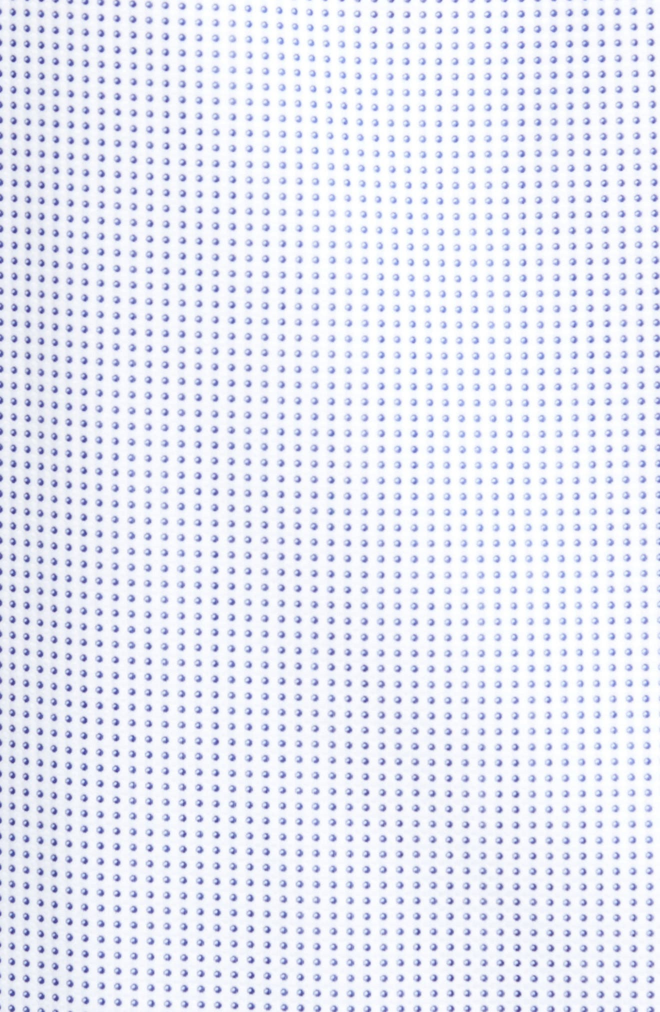 Classic Fit Dot Sport Shirt,                             Alternate thumbnail 5, color,                             Navy