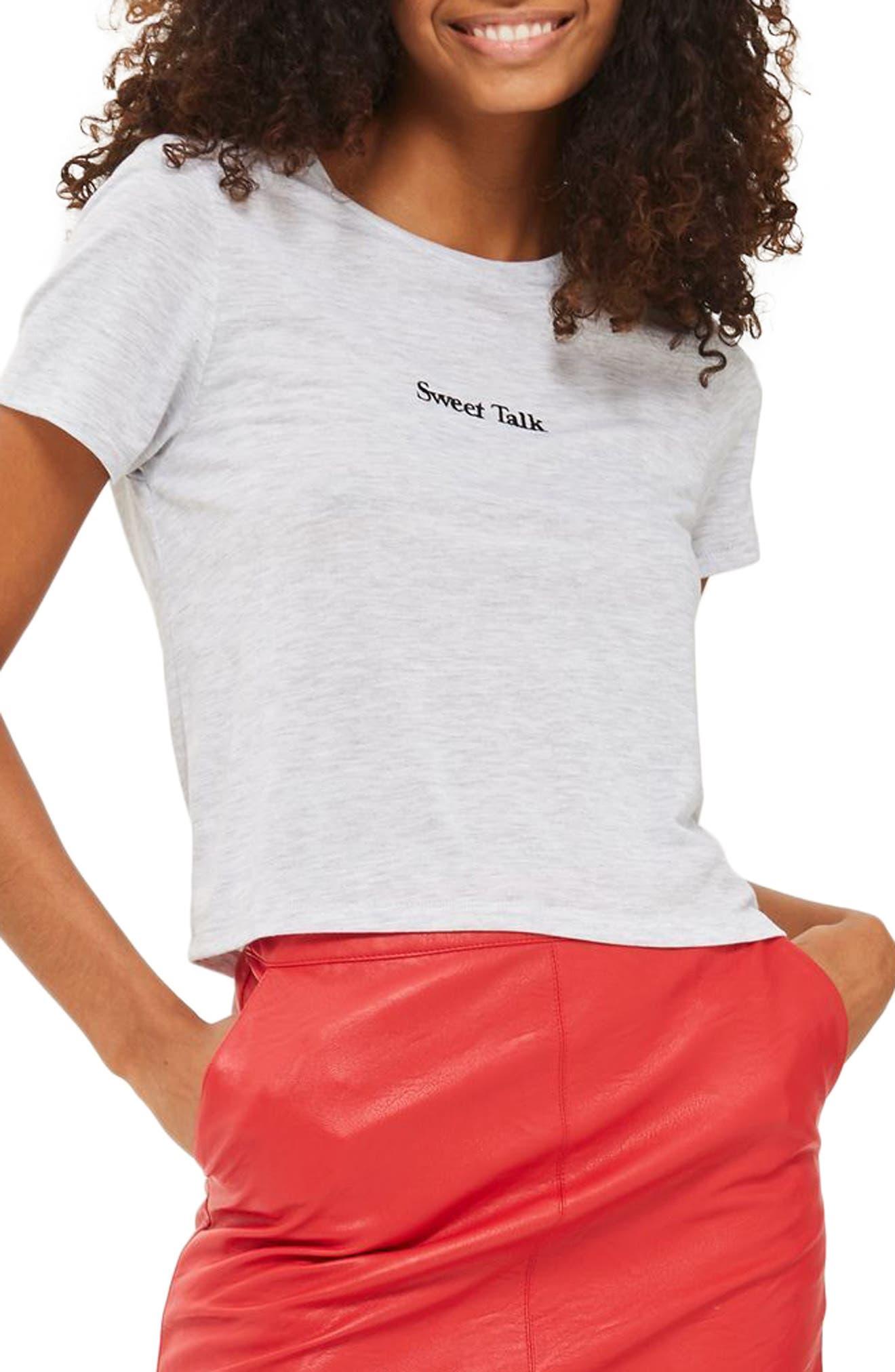 Topshop Sweet Talk Tee (Regular & Petite)