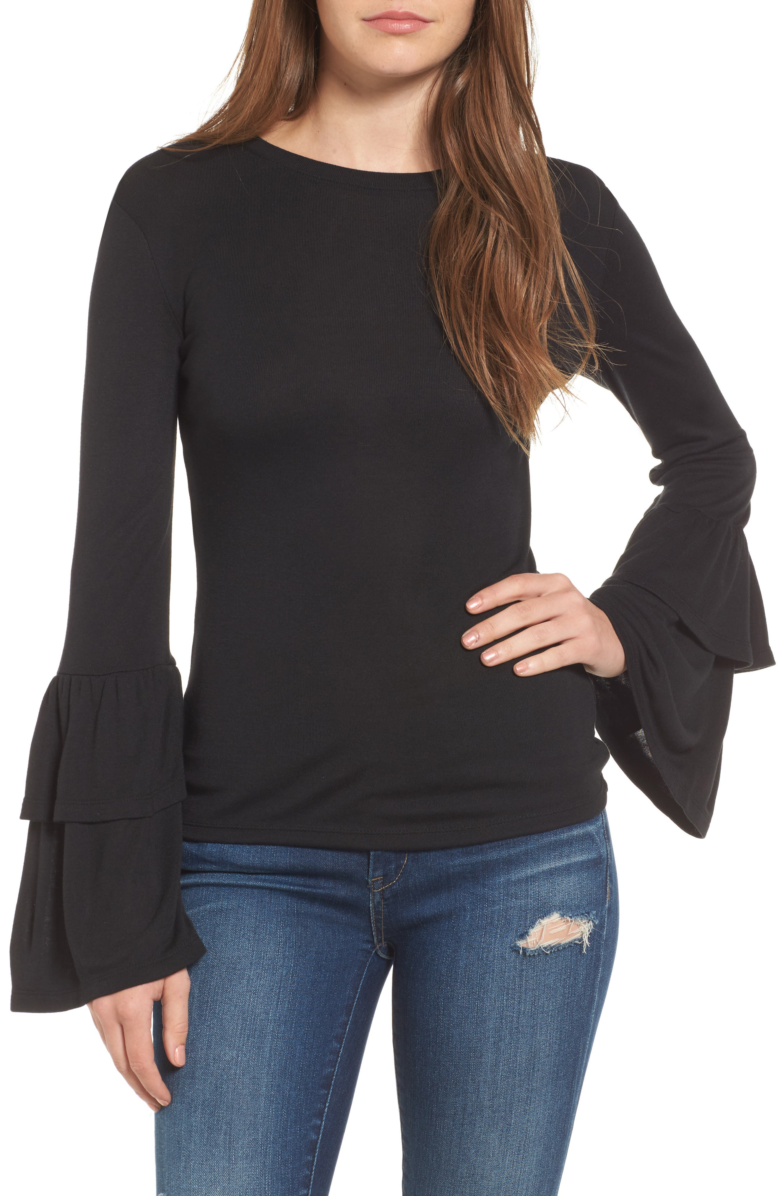 Alternate Image 1 Selected - Leith Bell Sleeve Top