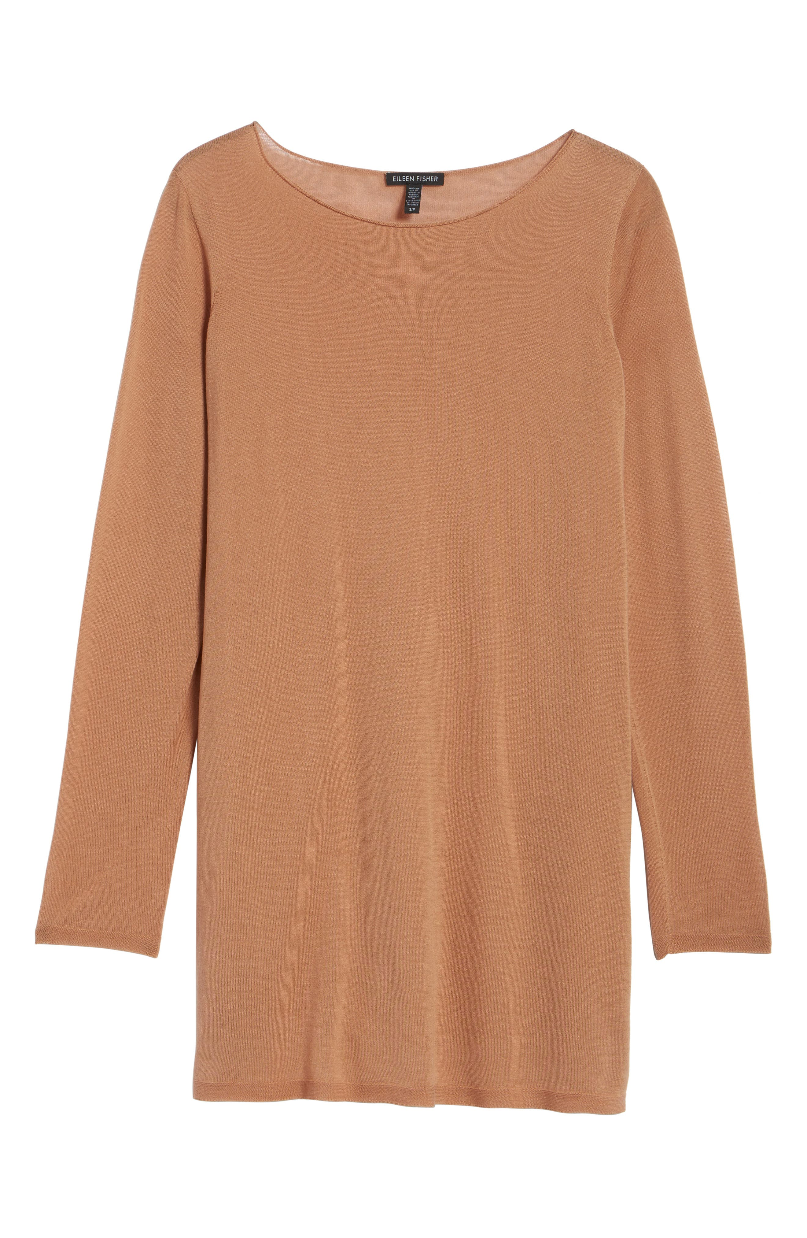 Alternate Image 6  - Eileen Fisher Side Slit Tencel® Tunic