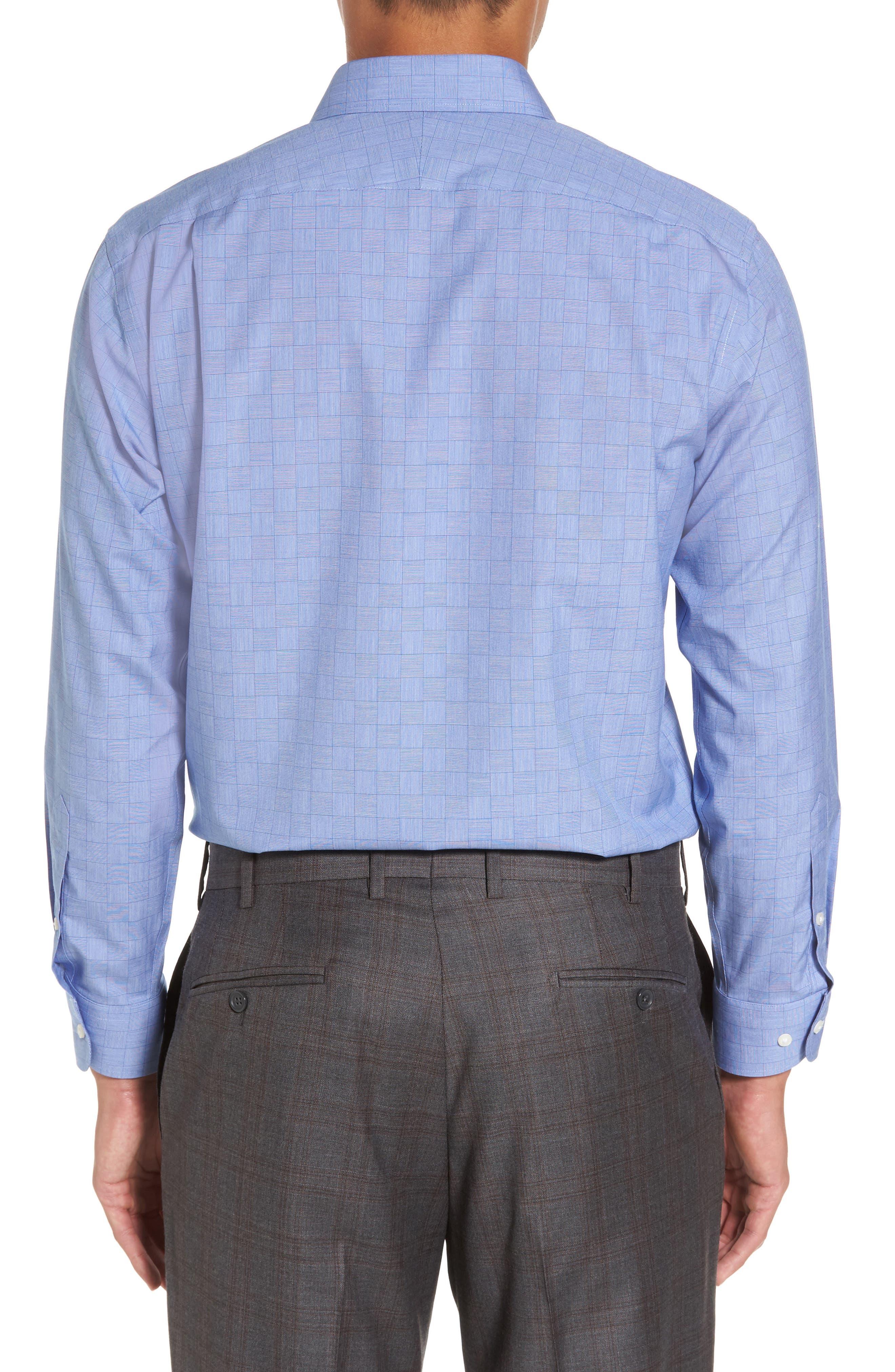 Smartcare<sup>™</sup> Trim Fit Check Dress Shirt,                             Alternate thumbnail 2, color,                             Blue Regatta