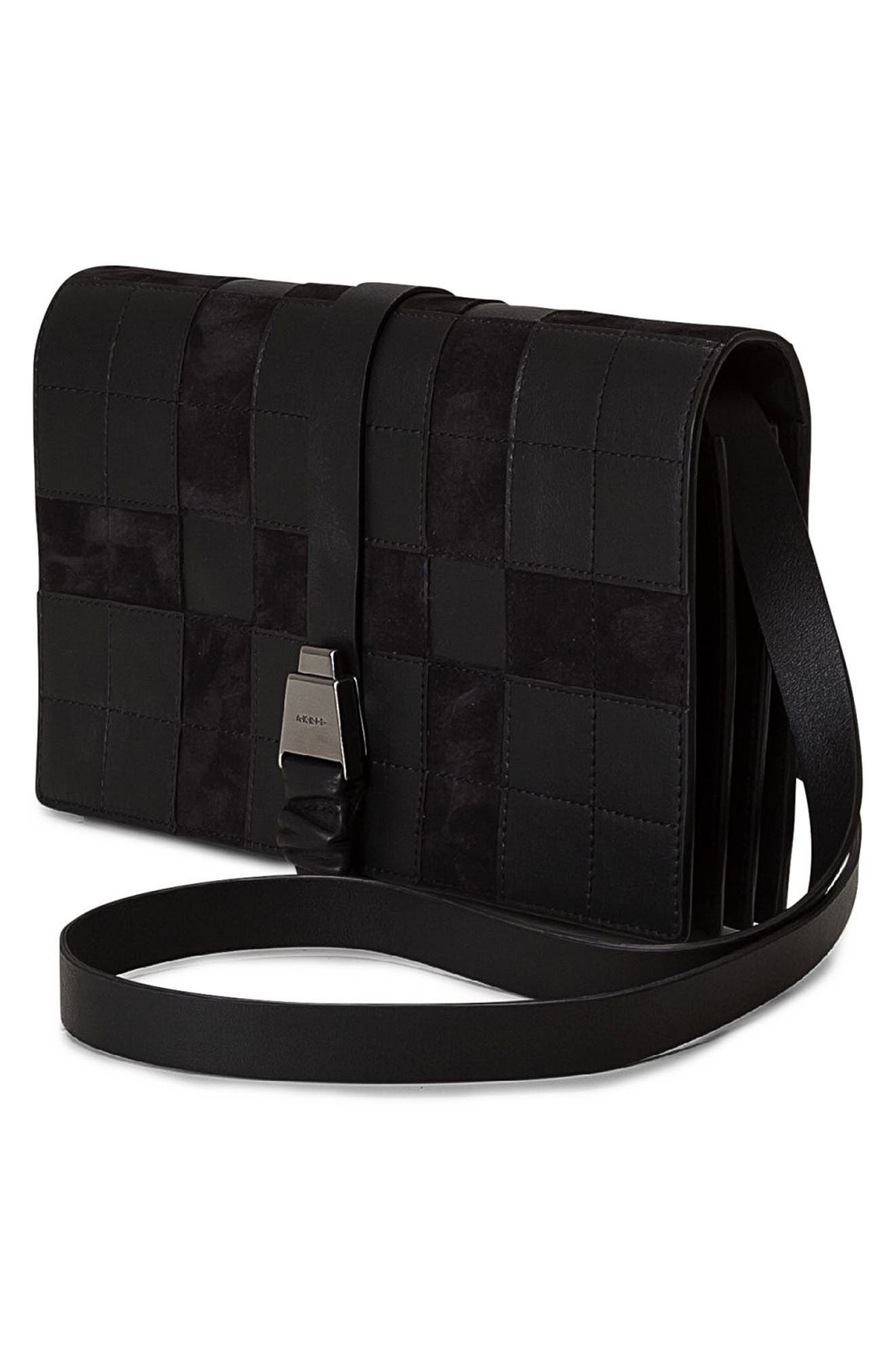 Alice Leather Crossbody Bag,                             Alternate thumbnail 2, color,                             Black