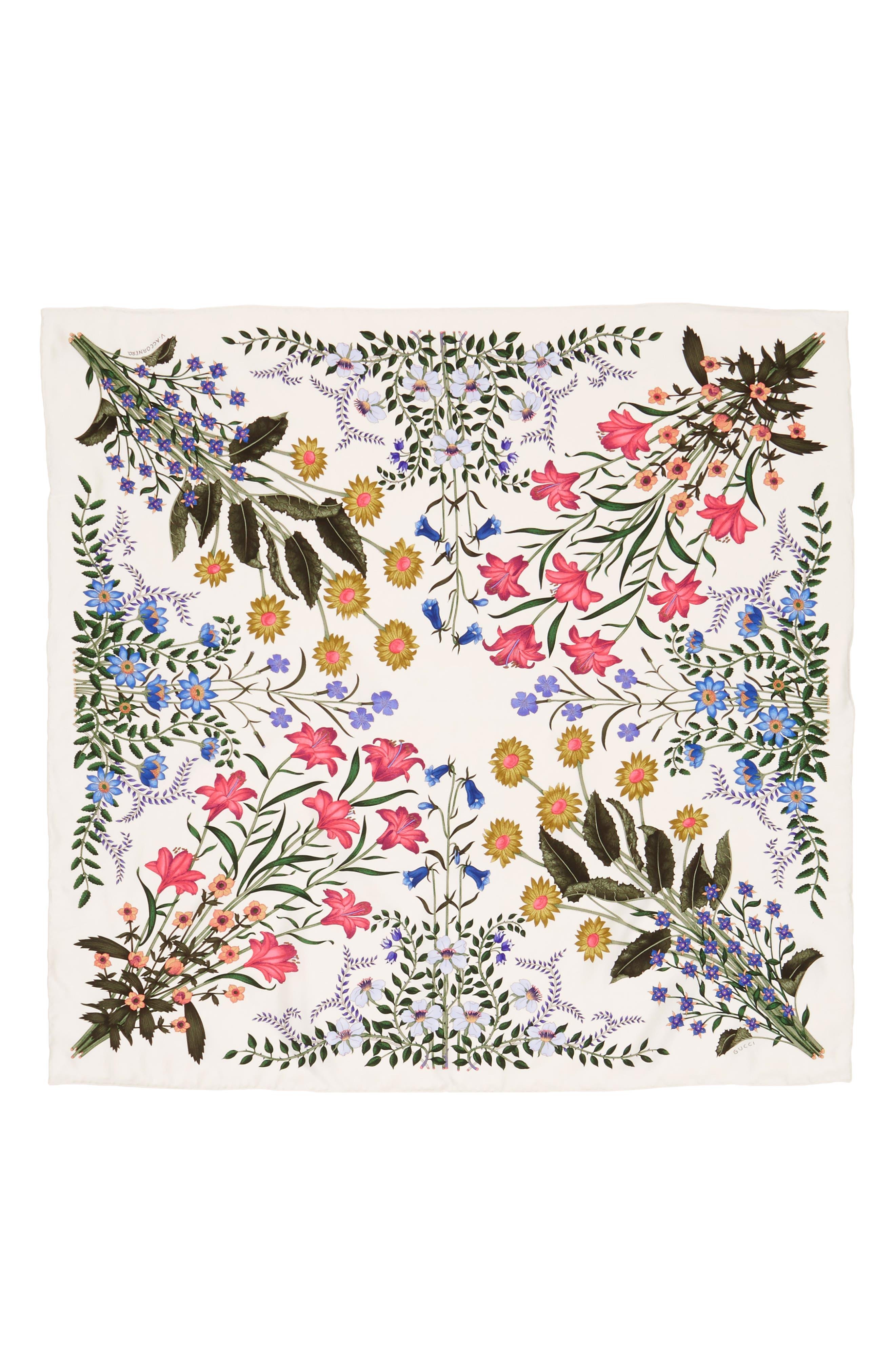 Main Image - Gucci New Flora Silk Scarf