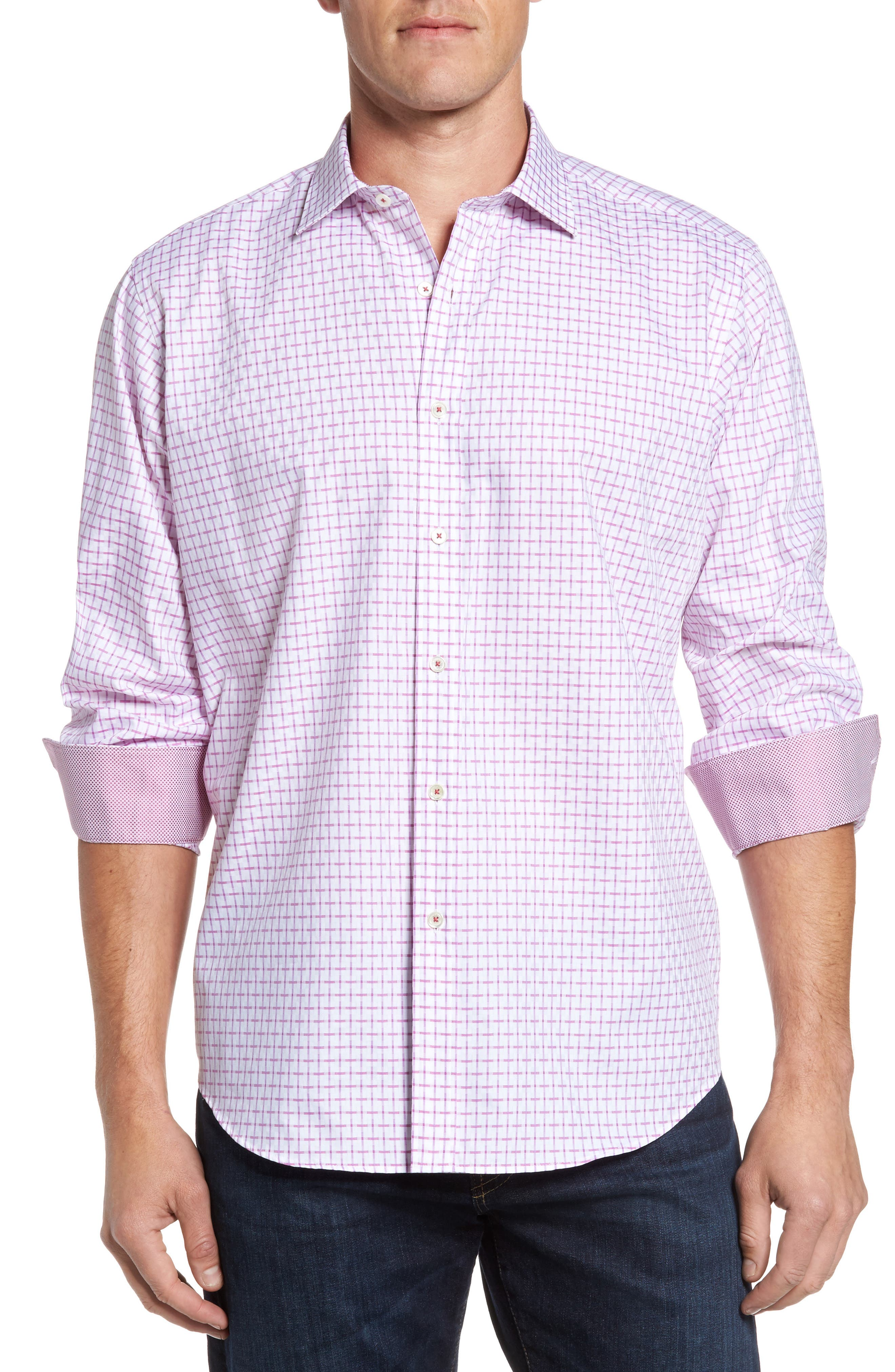 Alternate Image 1 Selected - Bugatchi Classic Fit Graphic Sport Shirt