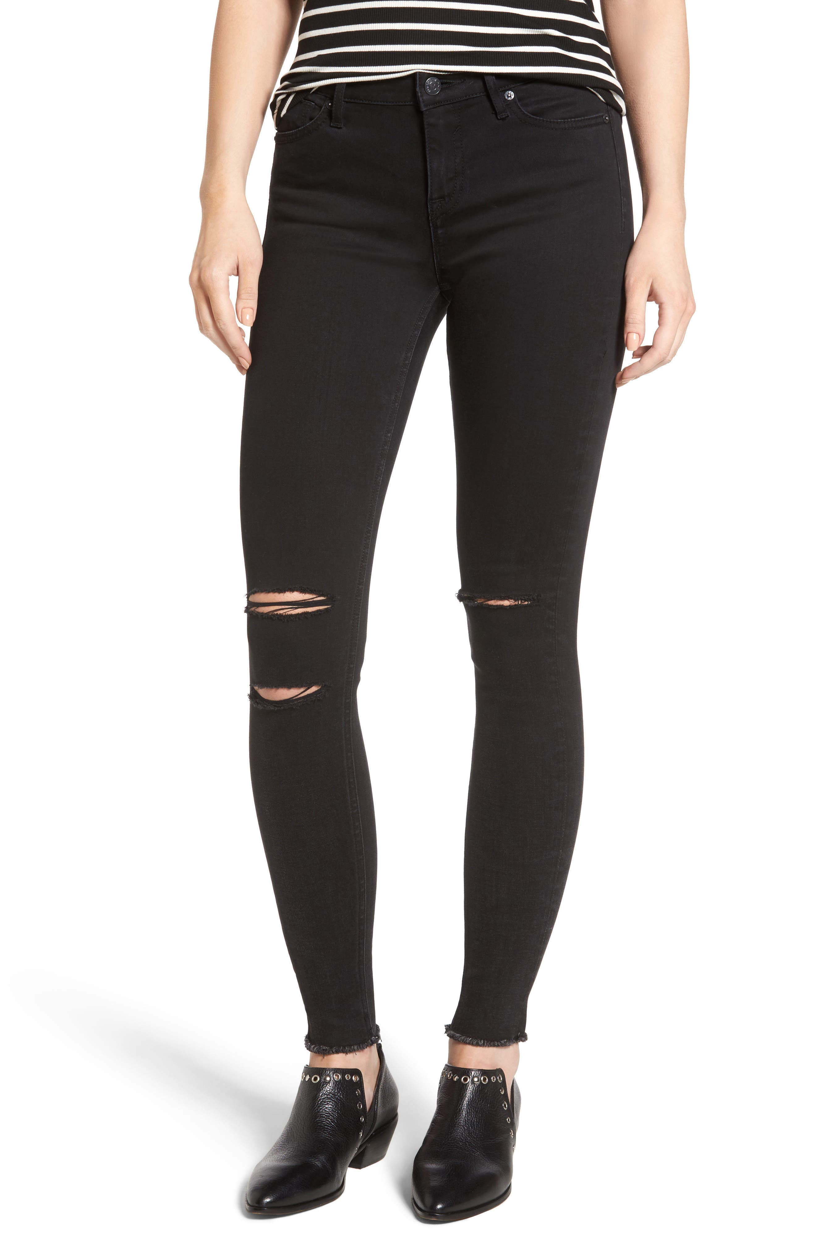 Vigoss Classic Fit Super Skinny Jeans (Washed Black)