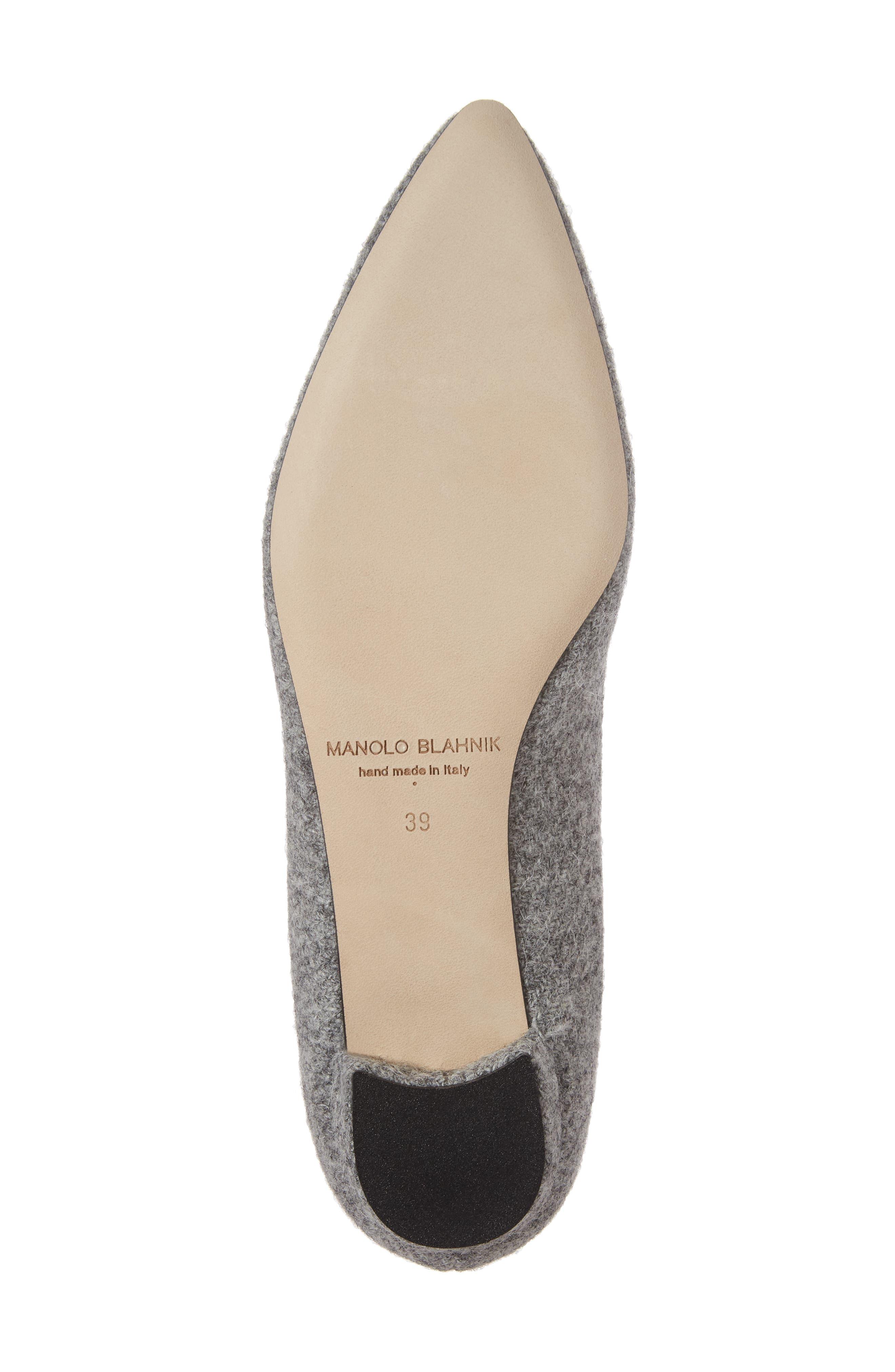 Alternate Image 6  - Manolo Blahnik 'Hangisi' Jeweled Pointy Toe Flat (Women)