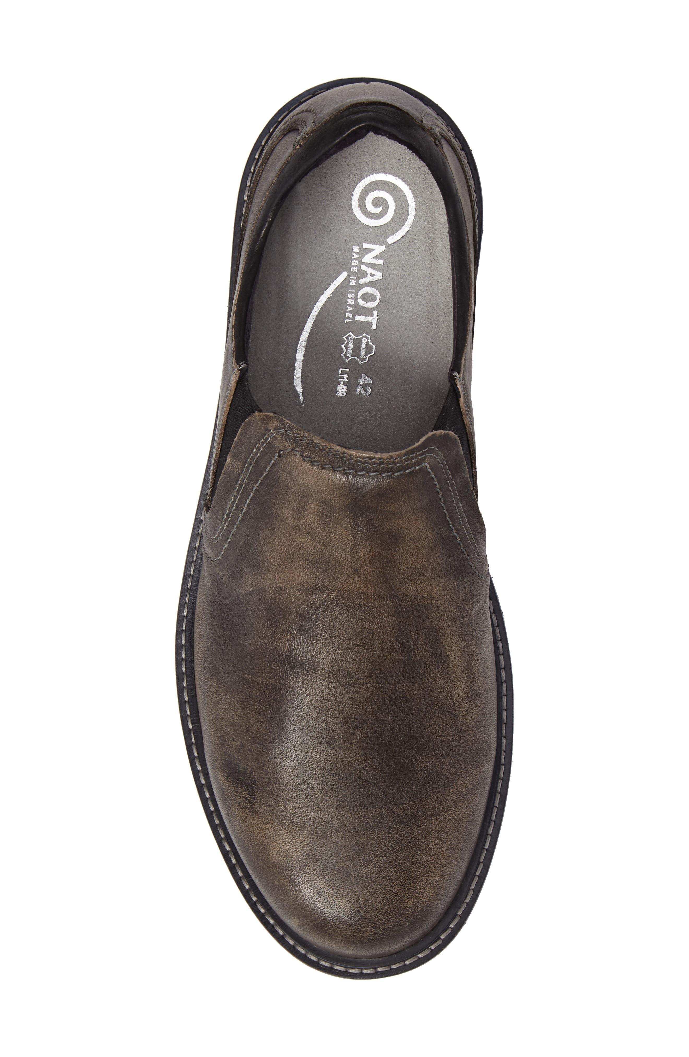 Manyara Slip-On Loafer,                             Alternate thumbnail 5, color,                             Vintage Grey Leather