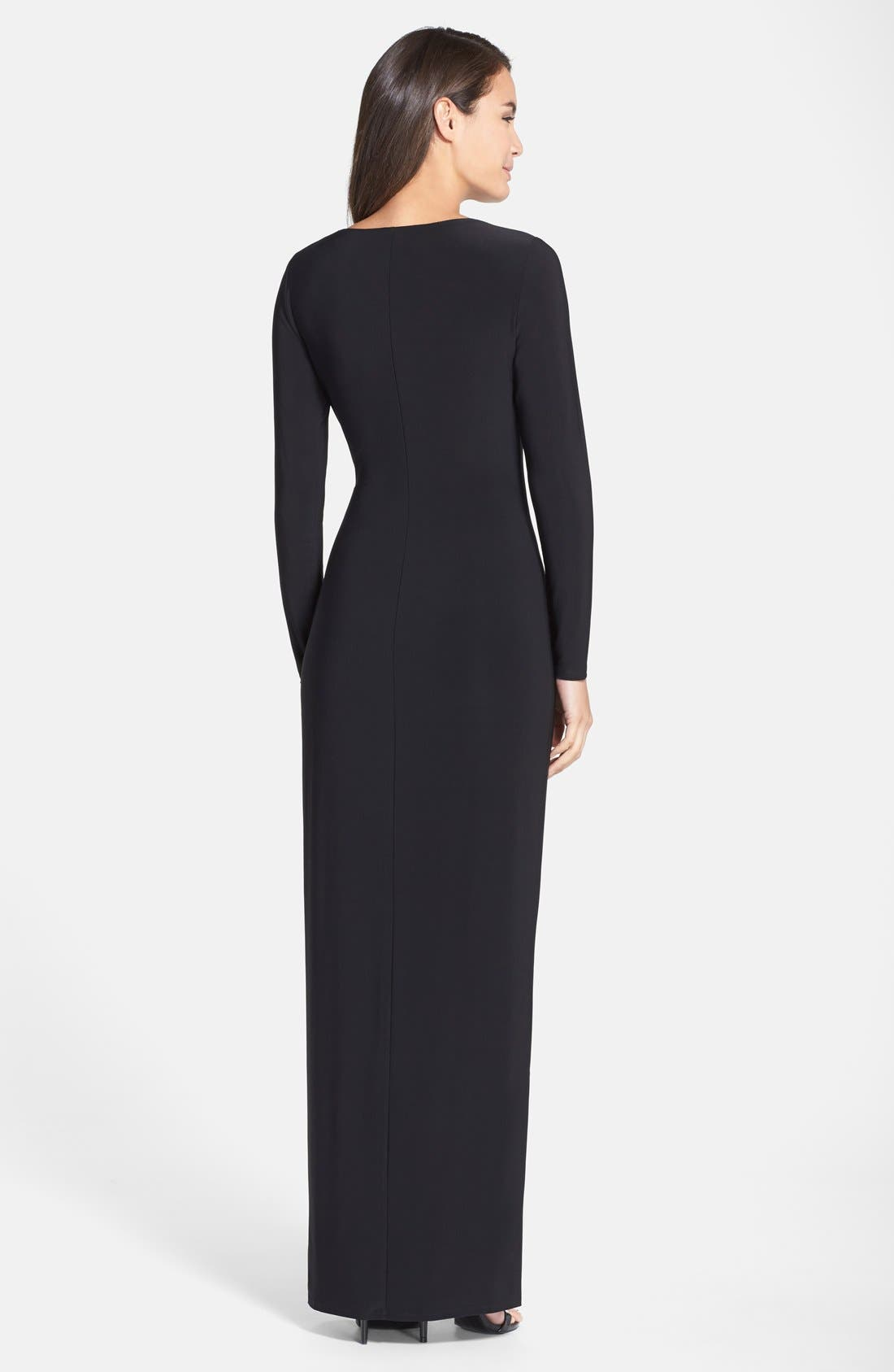 Alternate Image 2  - Lauren Ralph Lauren Embellished Jersey Gown (Regular & Petite)