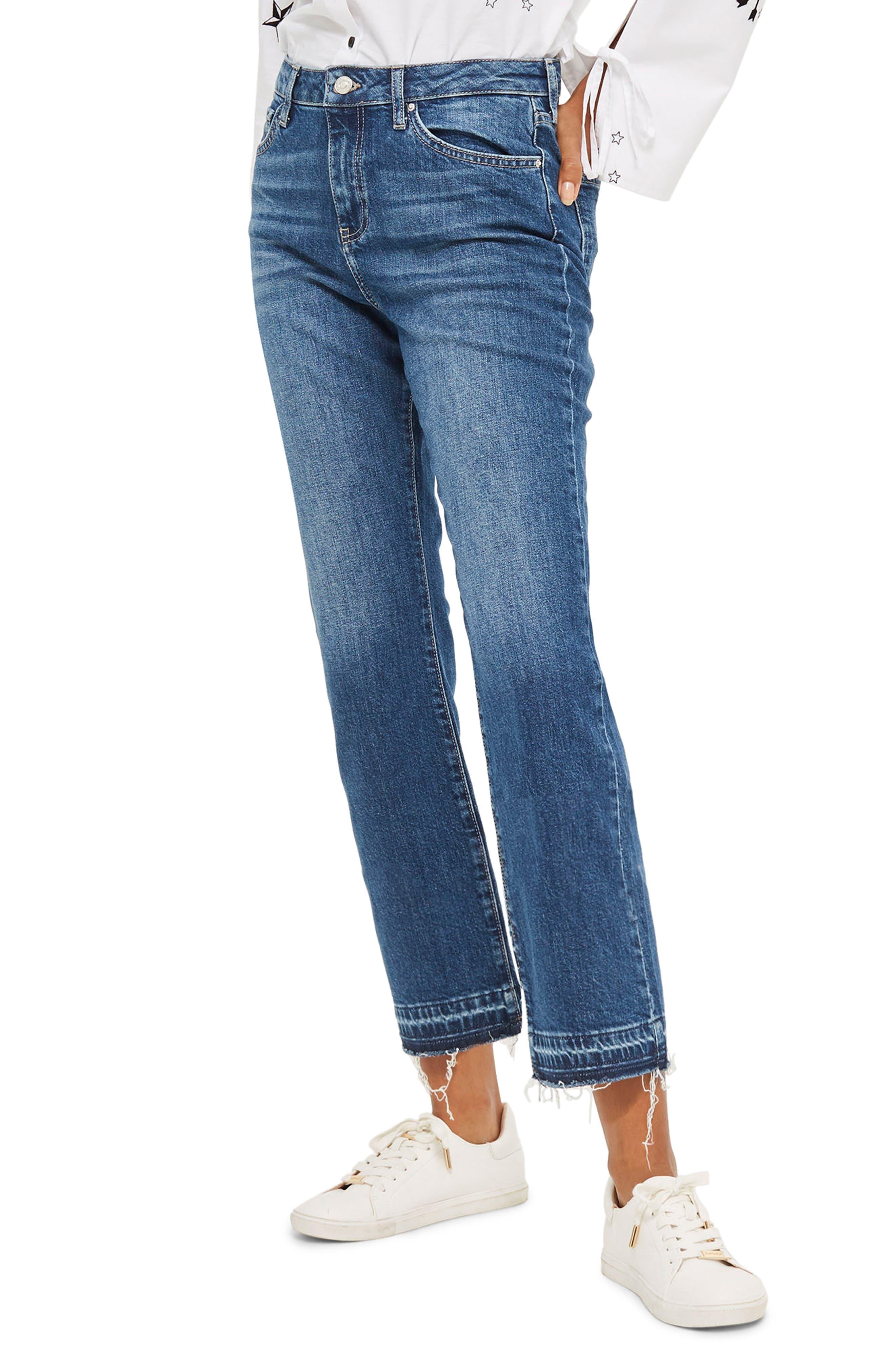 Dree Released Hem Flare Jeans,                         Main,                         color, Mid Denim