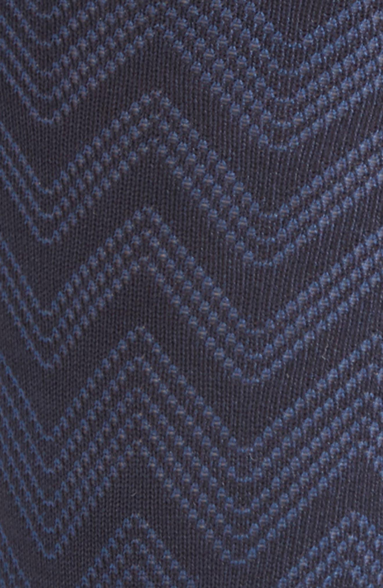 Chevron Socks,                             Alternate thumbnail 2, color,                             Navy